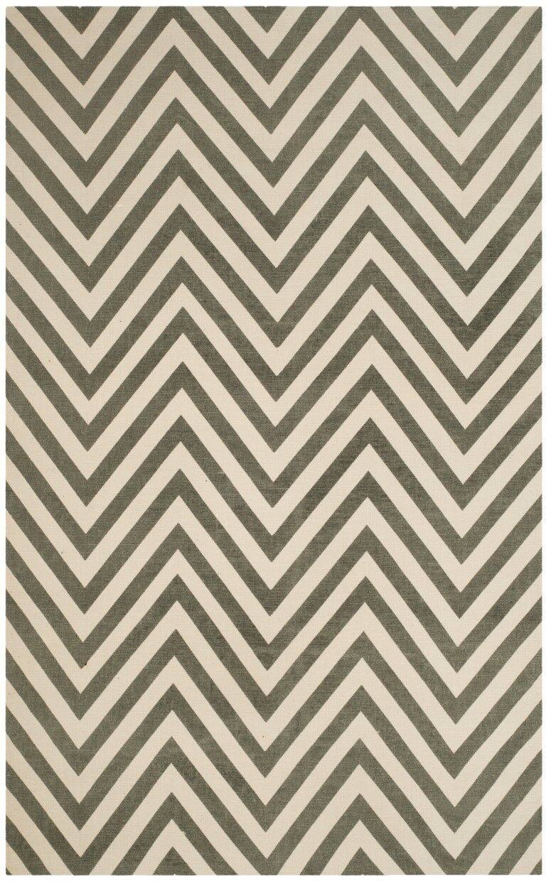 Thom Filicia Hand-Loomed Gray/Ivory Area Rug Rug Size: Rectangle 4' x 6'