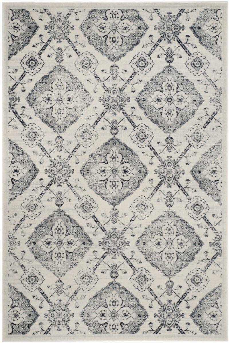 Joana Gray Area Rug Rug Size: Rectangle 8' x 10'