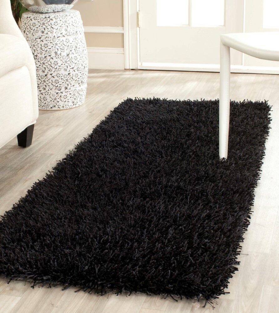 Paris Handmade Black Area Rug Rug Size: Rectangle 5' x 8'