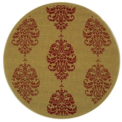 Poole Terracotta Indoor/Outdoor Area Rug Rug Size: Round 5'3