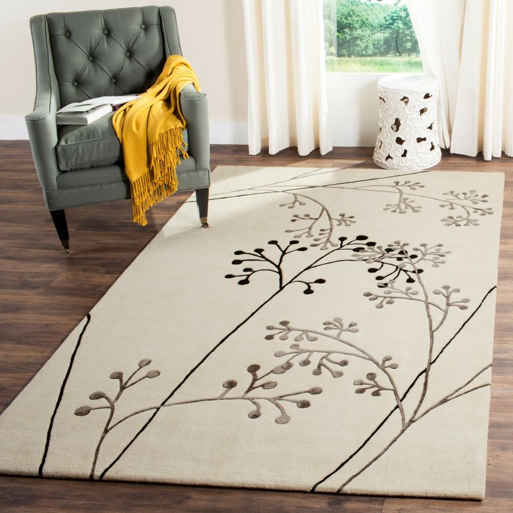 Chiara Ivory Area Rug Rug Size: Rectangle 3'6