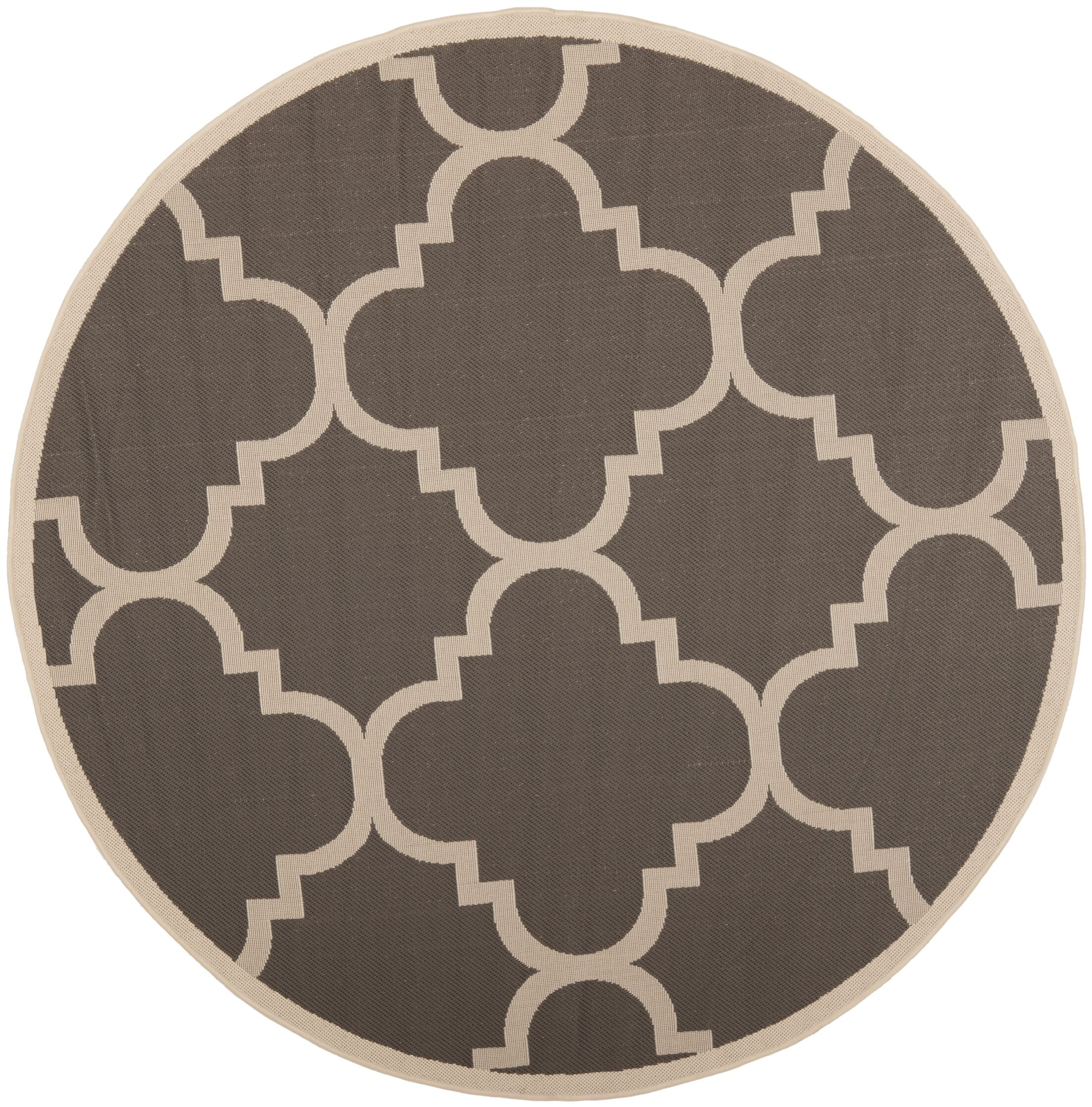 Octavius Gray/Beige Indoor/Outdoor Area Rug Rug Size: Round 5'3