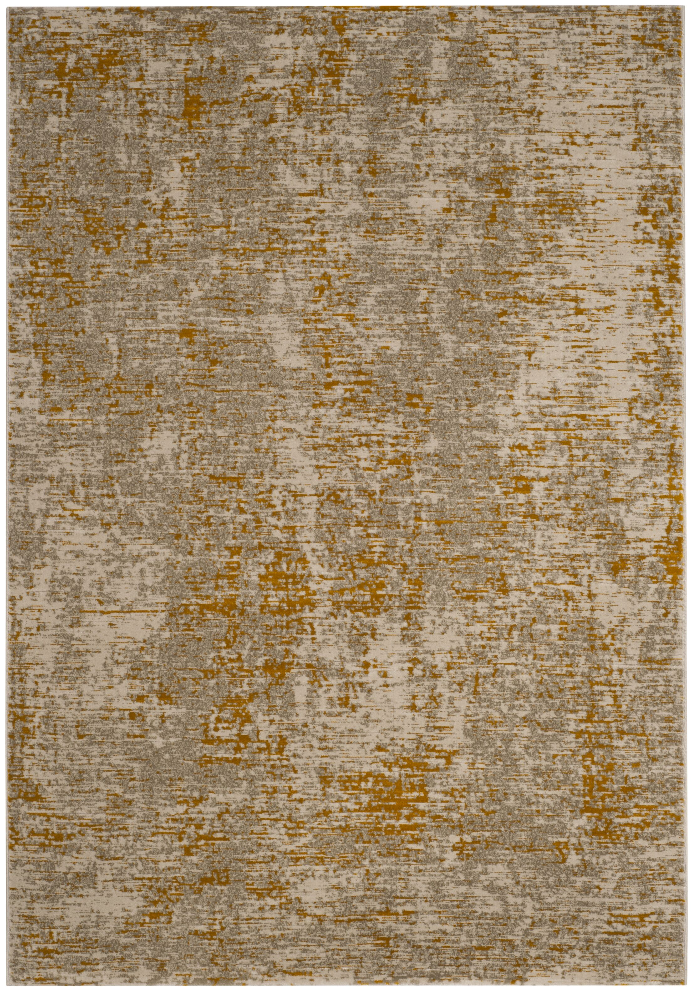 Sorrentino Gray/Gold Area Rug Rug Size: Rectangle 6' x 9'