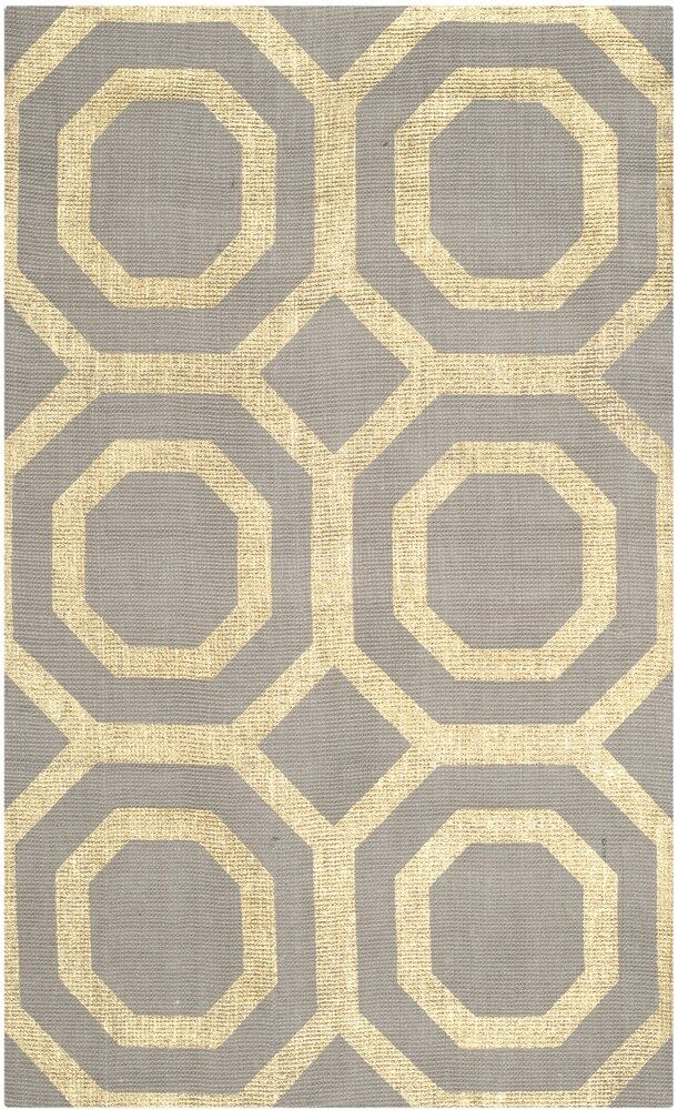 Columbus Circle Hand-Woven Brown/Ivory Area Rug Rug Size: Rectangle 2'3