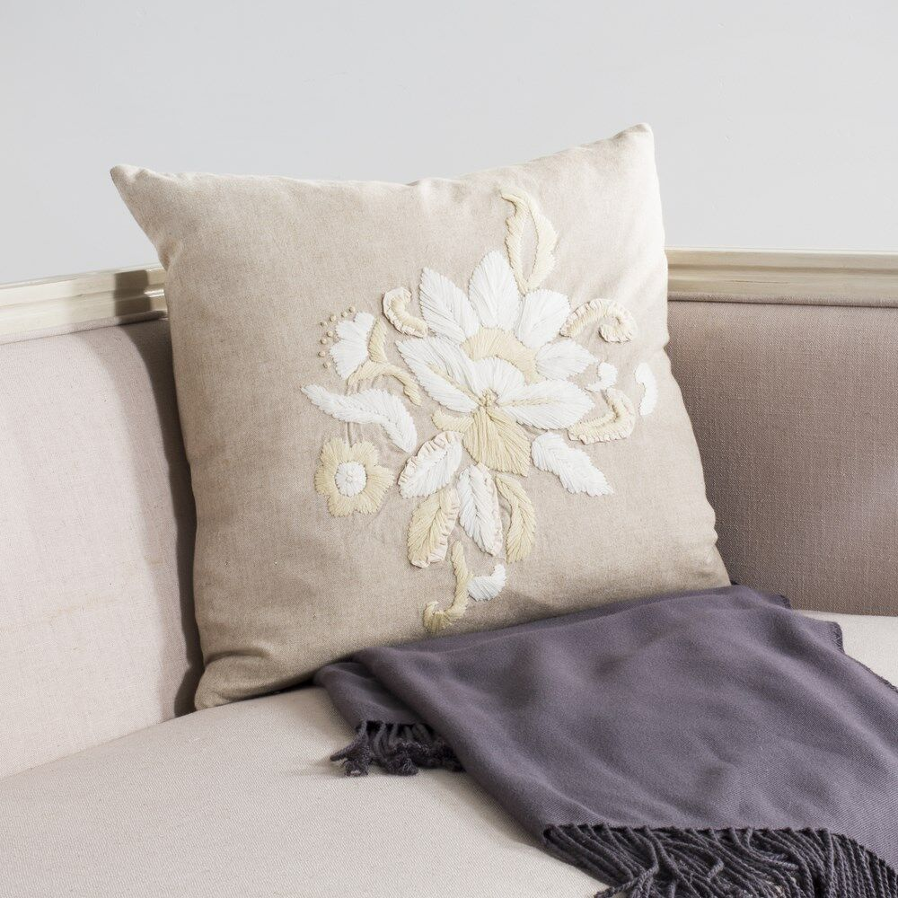 June Cotton Throw Pillow Size: 22