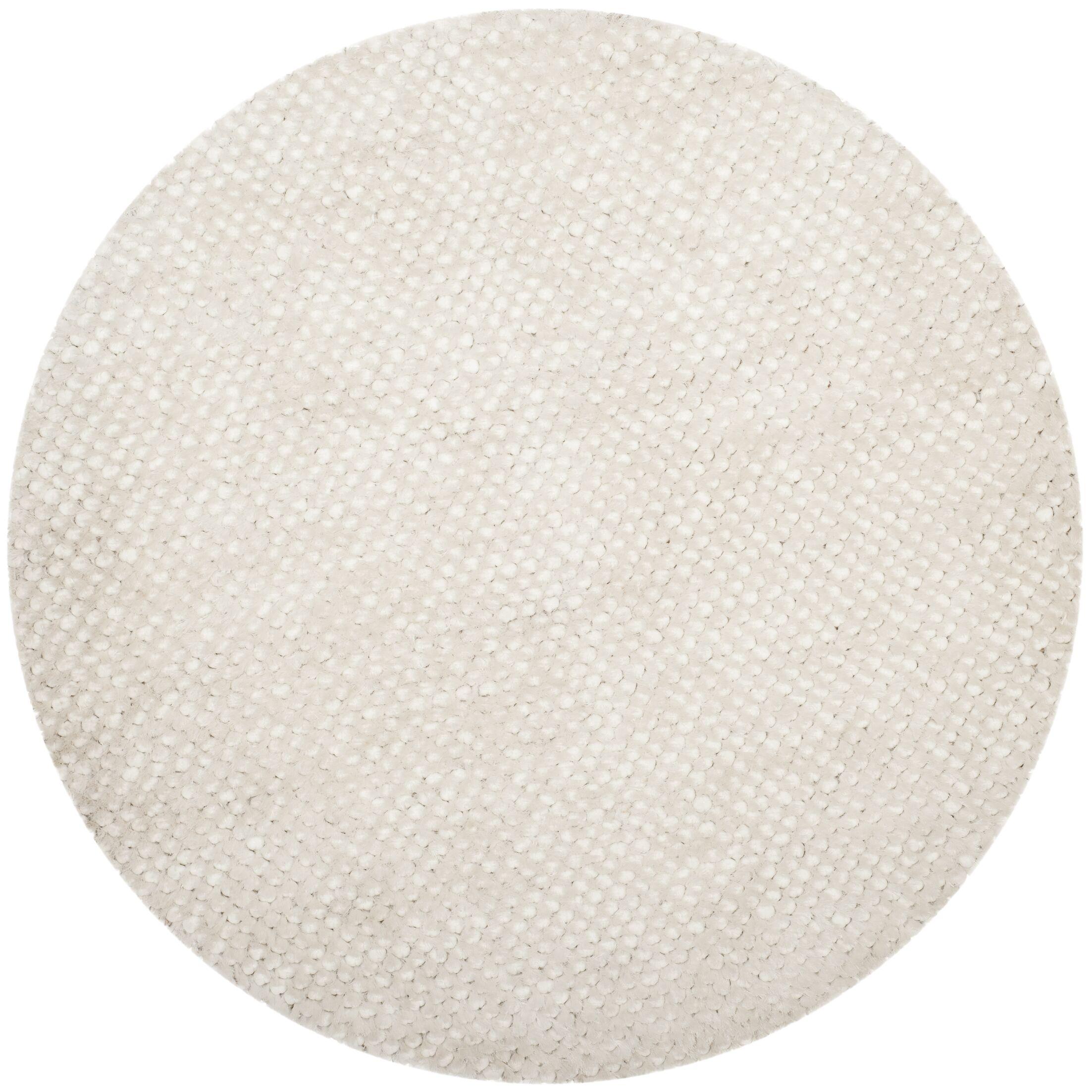 Saint Tropez Hand Woven Cotton White Area Rug Rug Size: Rectangle 5' x 8'