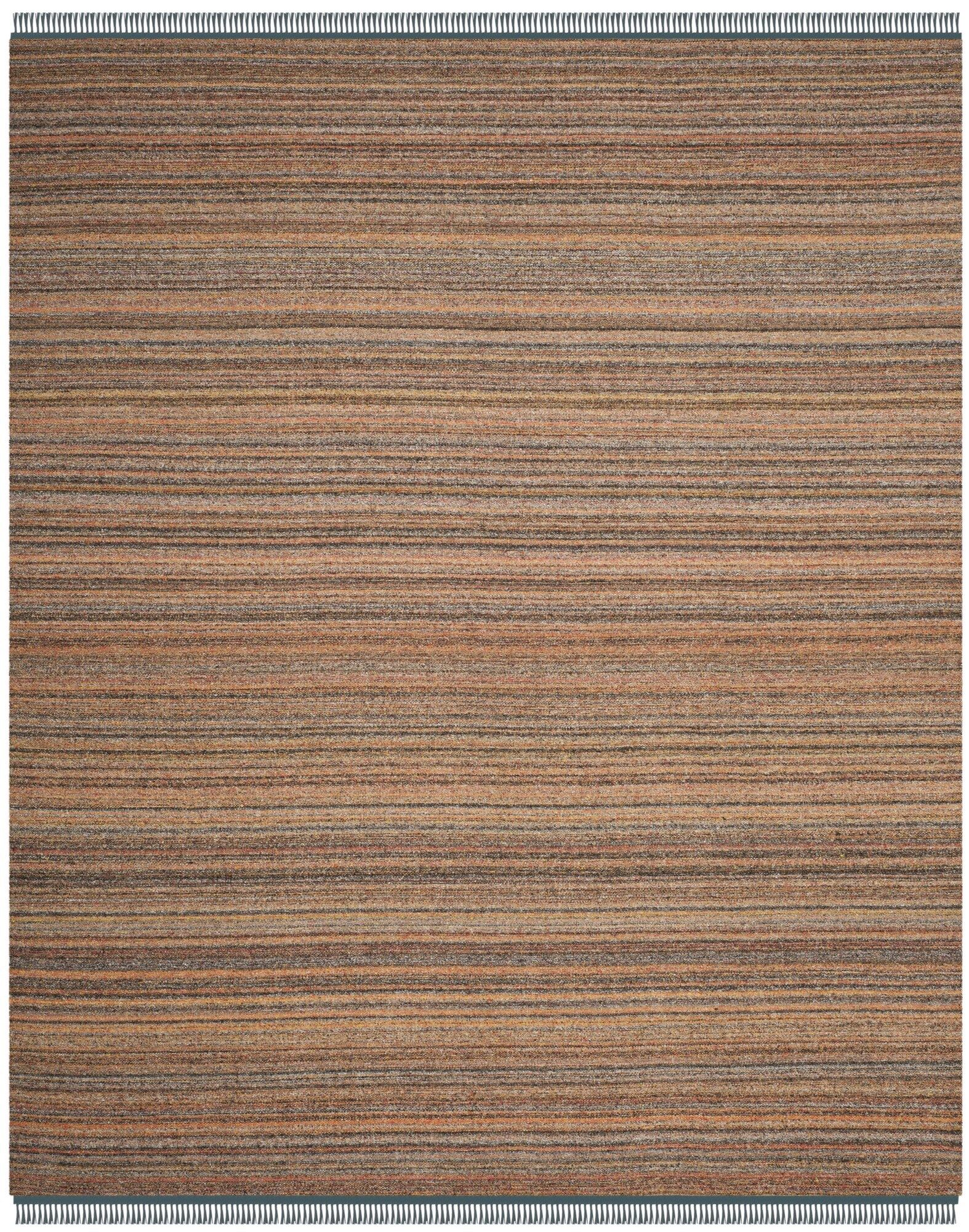 Sojourn Hand-Woven Orange/Blue Area Rug Rug Size: Rectangle 8' x 10'