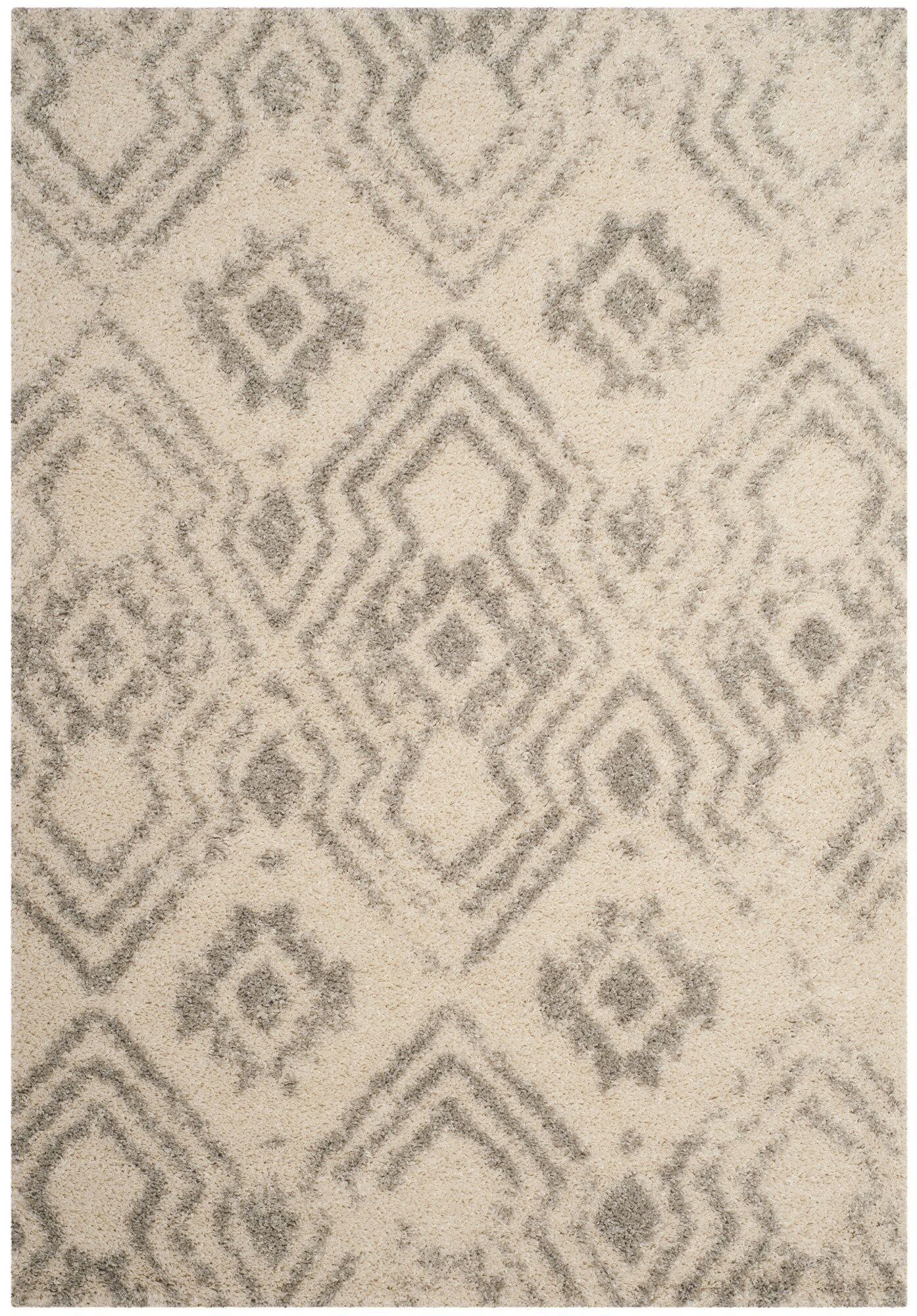 Amicus Gray/Beige Area Rug Rug Size: Rectangle 5'1