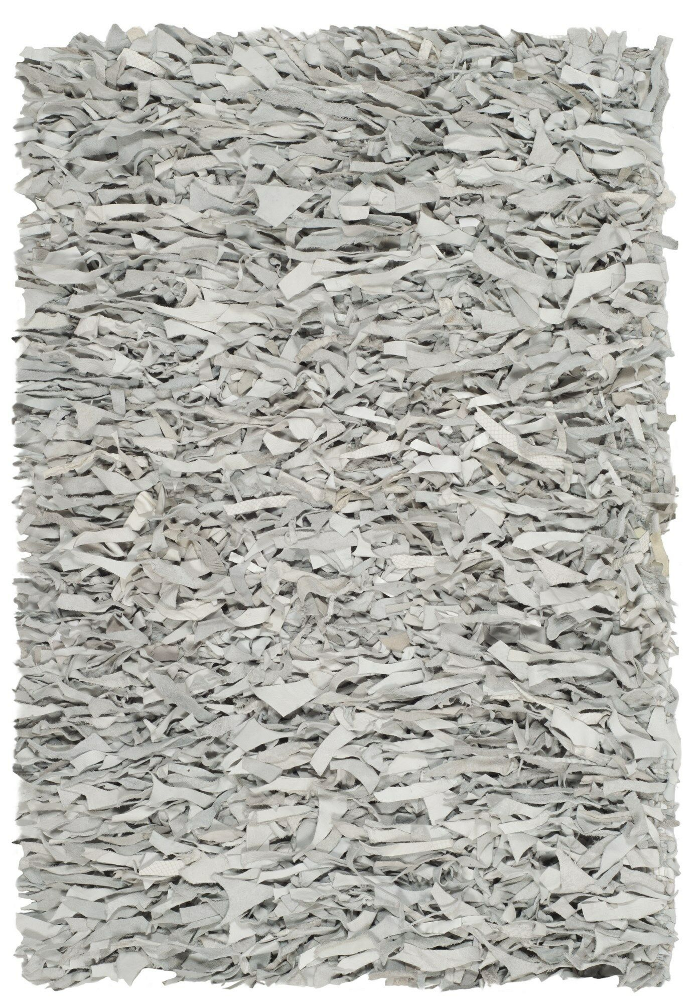 Albany Hand-Knotted Solid Gray Area Rug Rug Size: Rectangle 4' x 6'