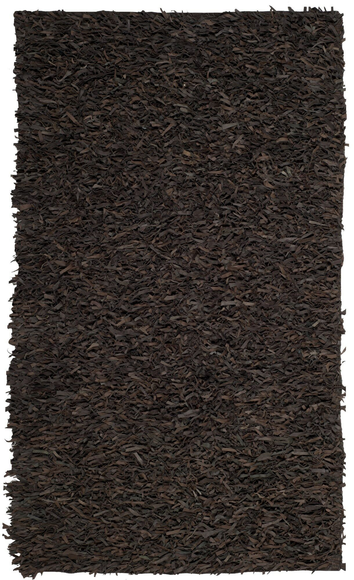 Albany Hand-Knotted Dark Brown Area Rug Rug Size: Square 5'