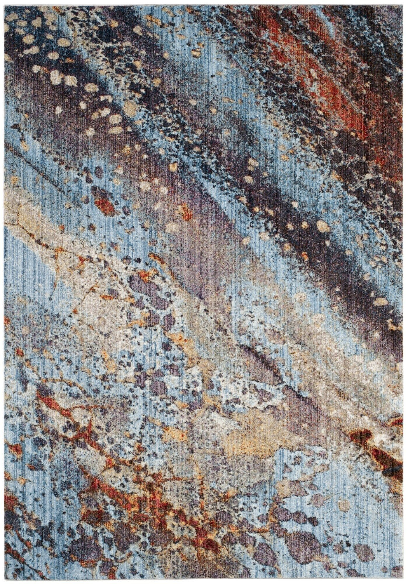 Foresta Purple/Blue Area Rug Rug Size: Rectangle 8' x 10'