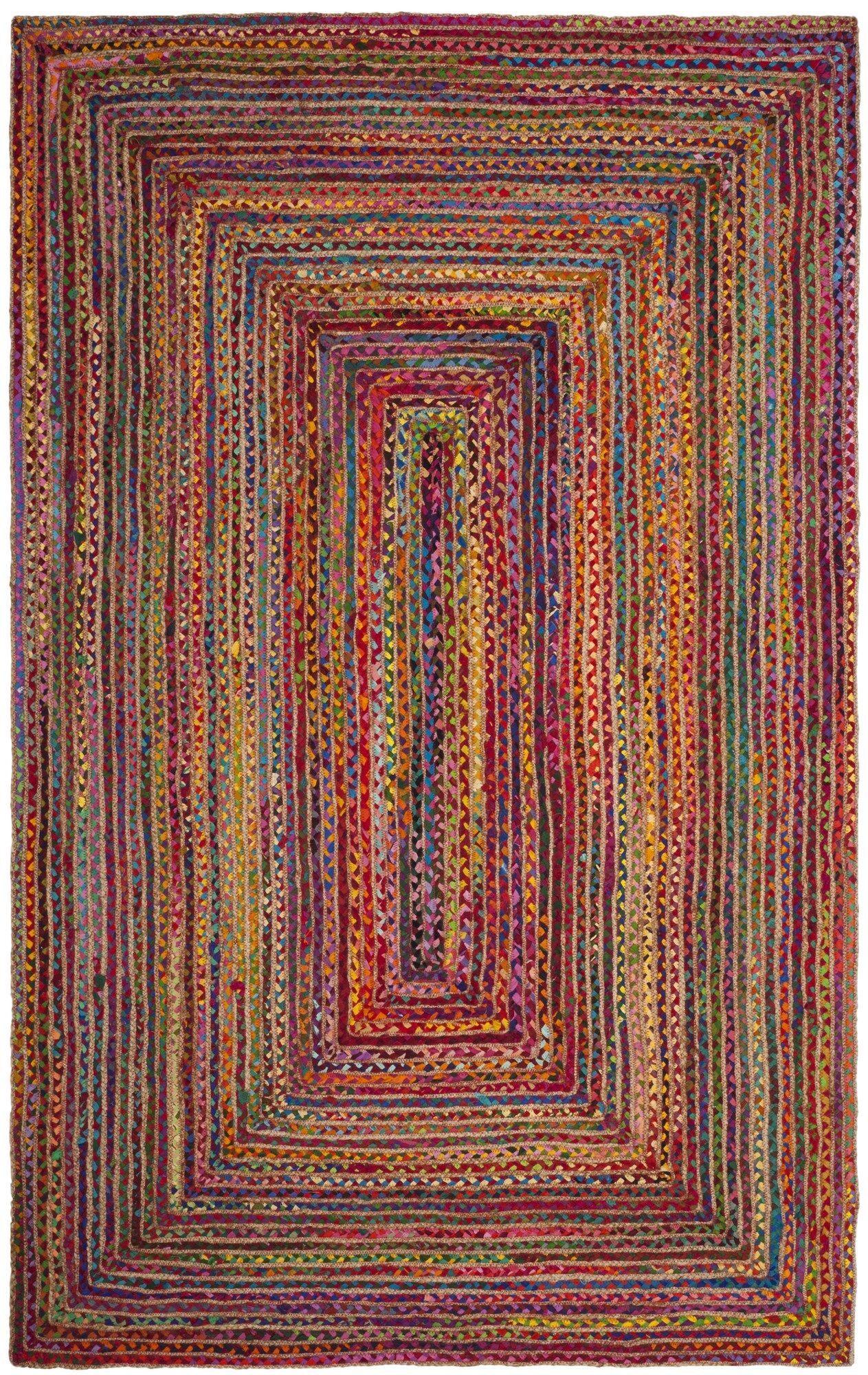 Bowen Hand-Woven Red/Multi Area Rug Rug Size: Rectangle 6' x 9'