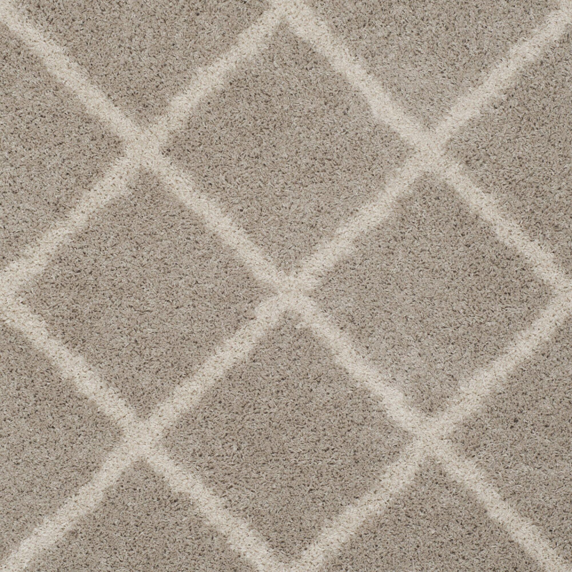 Helsel Light Gray Area Rug Rug Size: Rectangle 5'1