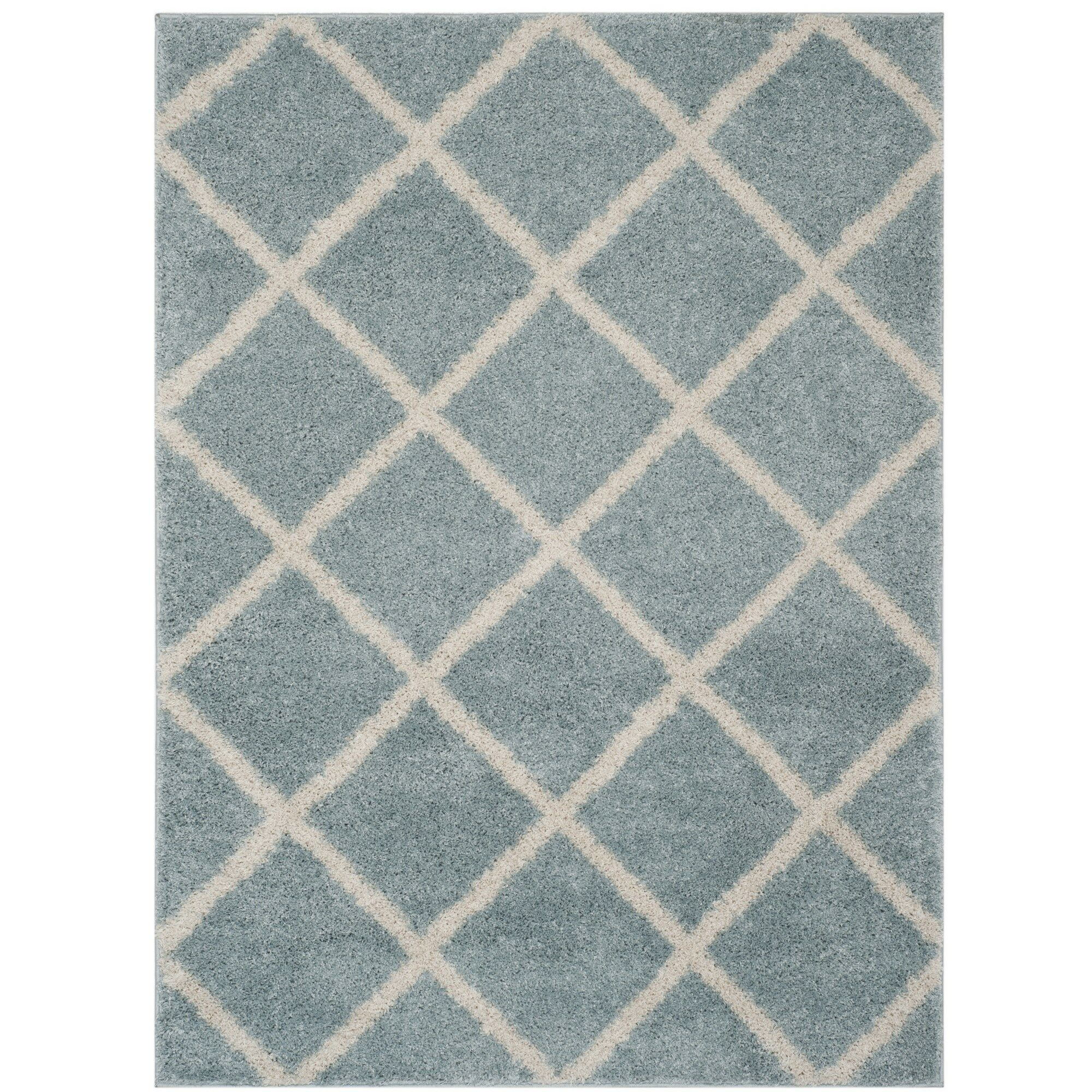 Helsel Blue Area Rug Rug Size: Rectangle 5'1