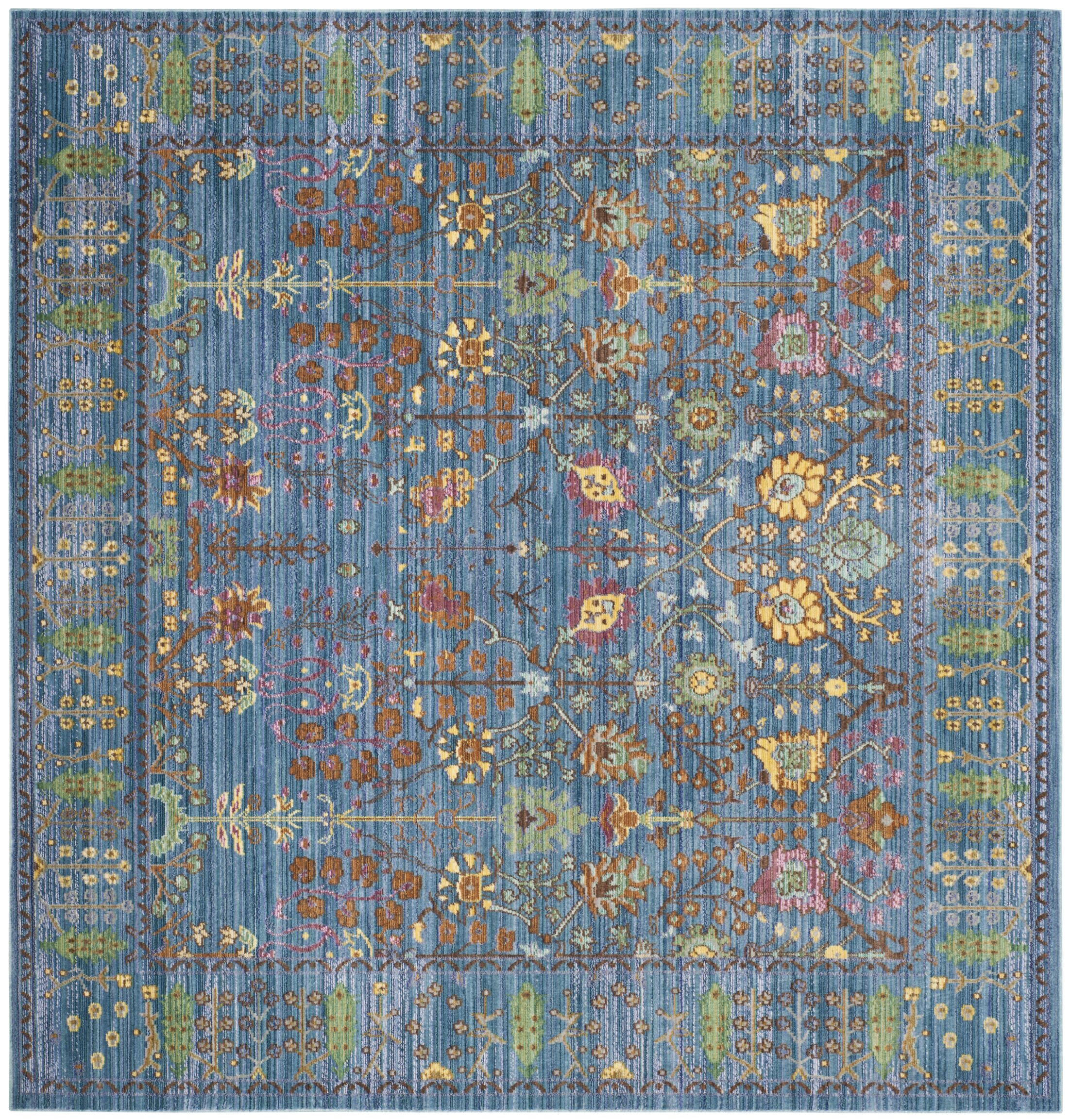 Misael Blue Area Rug Rug Size: Square 6'7