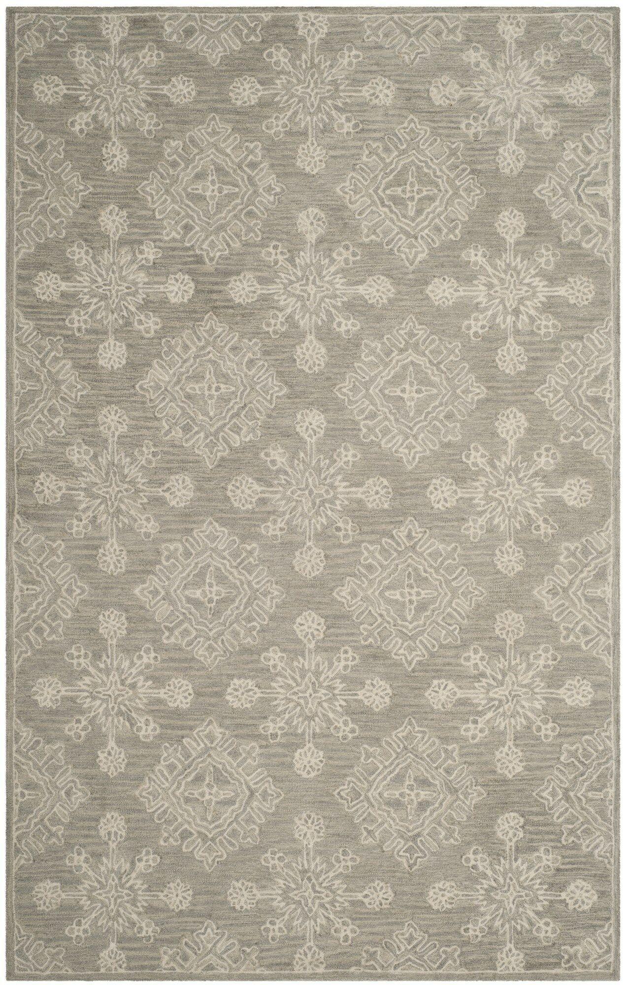 Skyla Hand-Tufted Light Beige Area Rug Rug Size: Rectangle 4' x 6'
