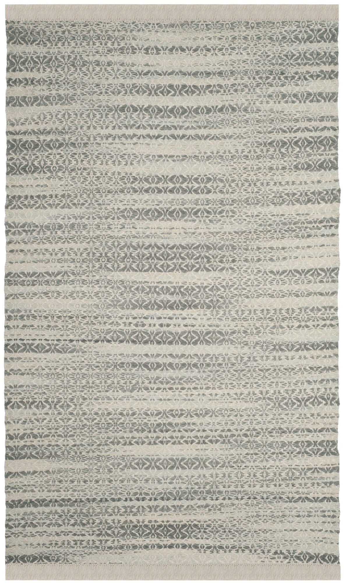 Redbrook  Hand-Tufted Gray/Ivory Area Rug Rug Size: Rectangle 3' x 5'