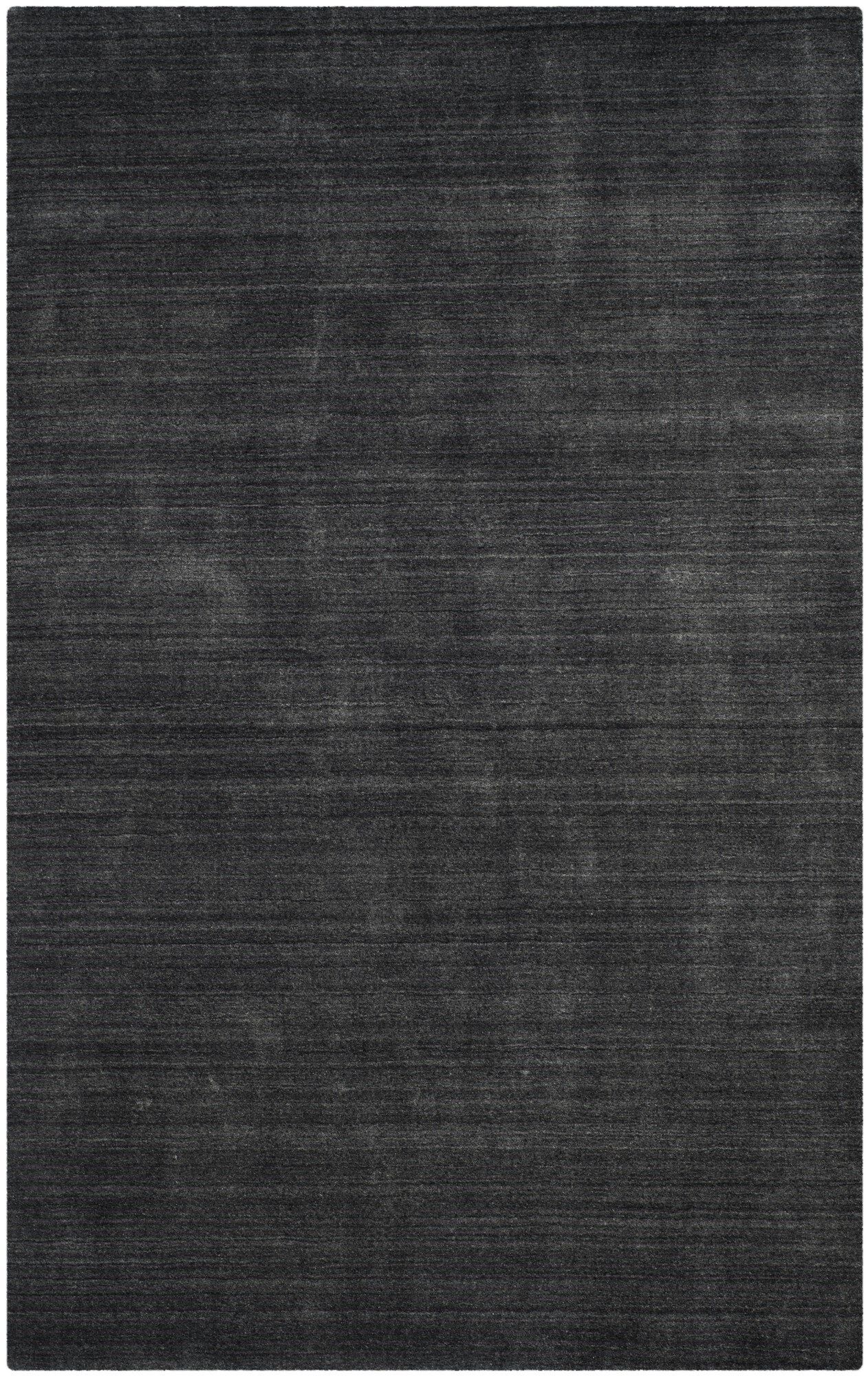 Leontine Hand-Loomed Charcoal Area Rug Rug Size: Rectangle 6' x 9'