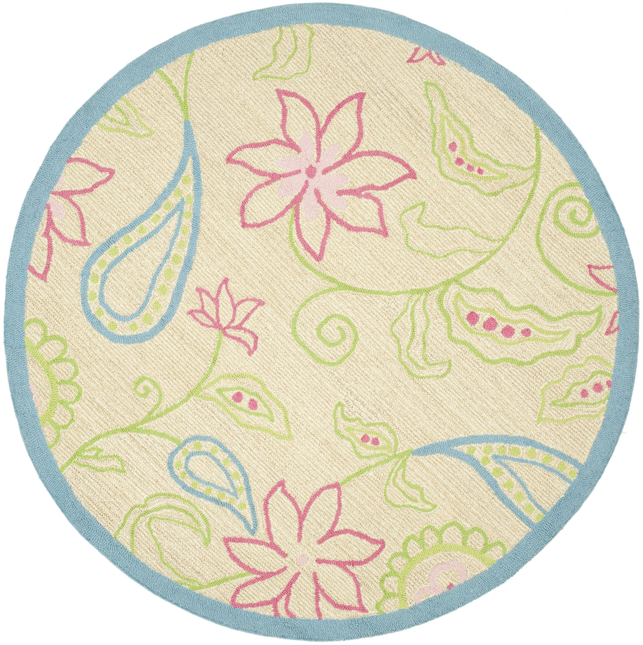 Claro Damask Kids Area Rug Rug Size: Rectangle 8' x 10'