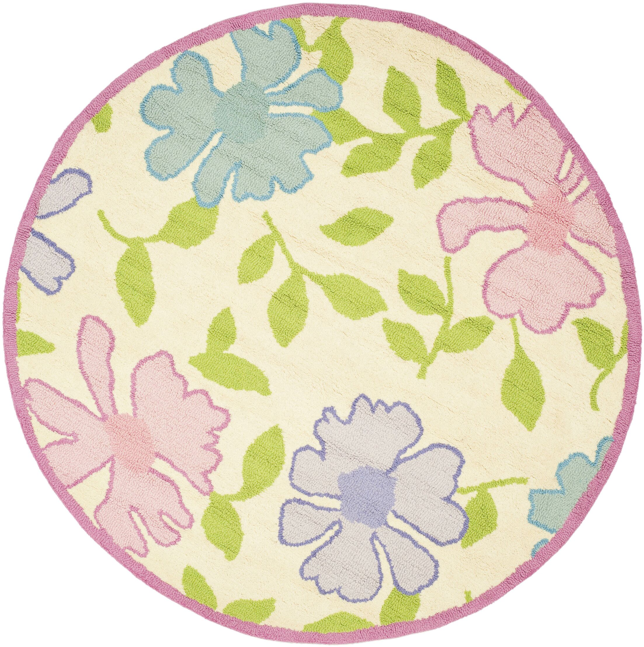 Claro Pink Flower Area Rug Rug Size: Rectangle 6' x 9'