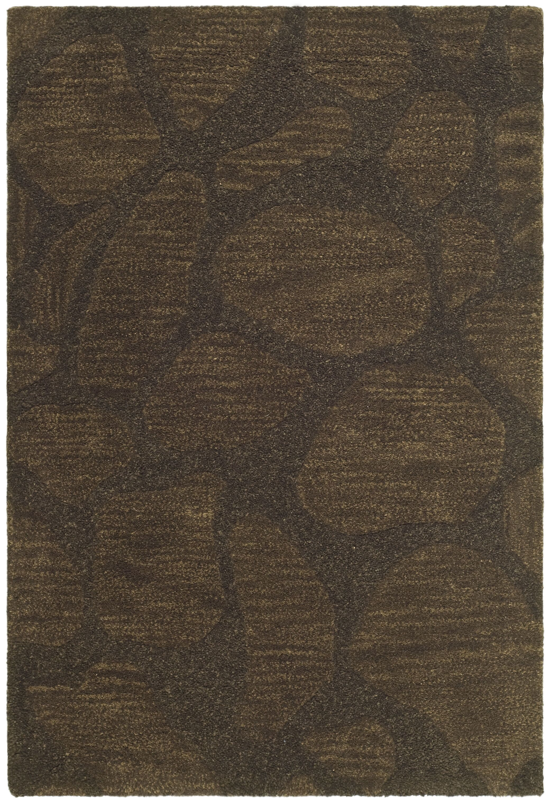 Boone Dark Brown Area Rug Rug Size: Rectangle 5' x 8'