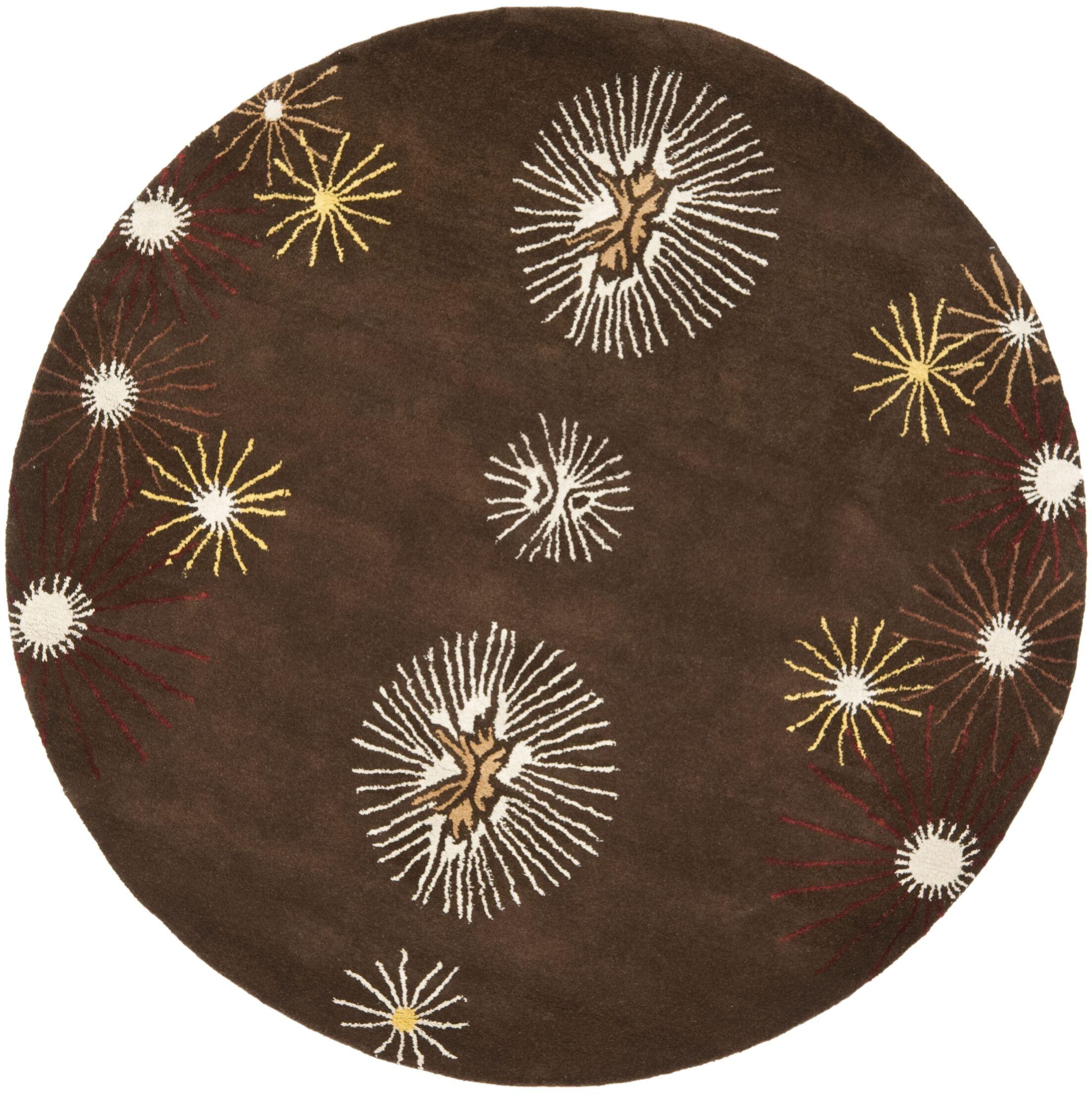 Lockwood Dark Brown/Beige Rug Rug Size: Round 6'