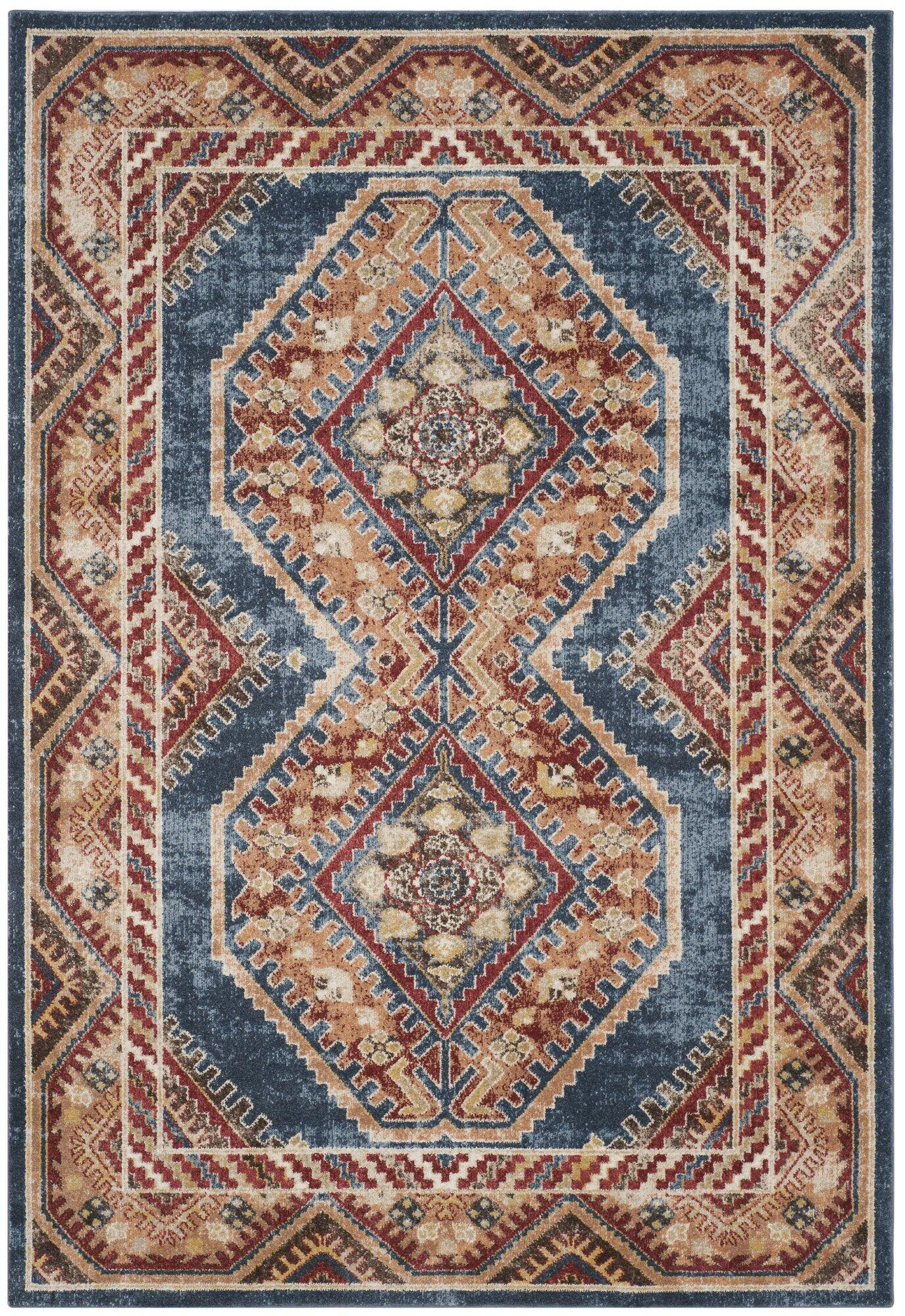Isanotski Red/Blue Area Rug Rug Size: Rectangle 8' x 10'