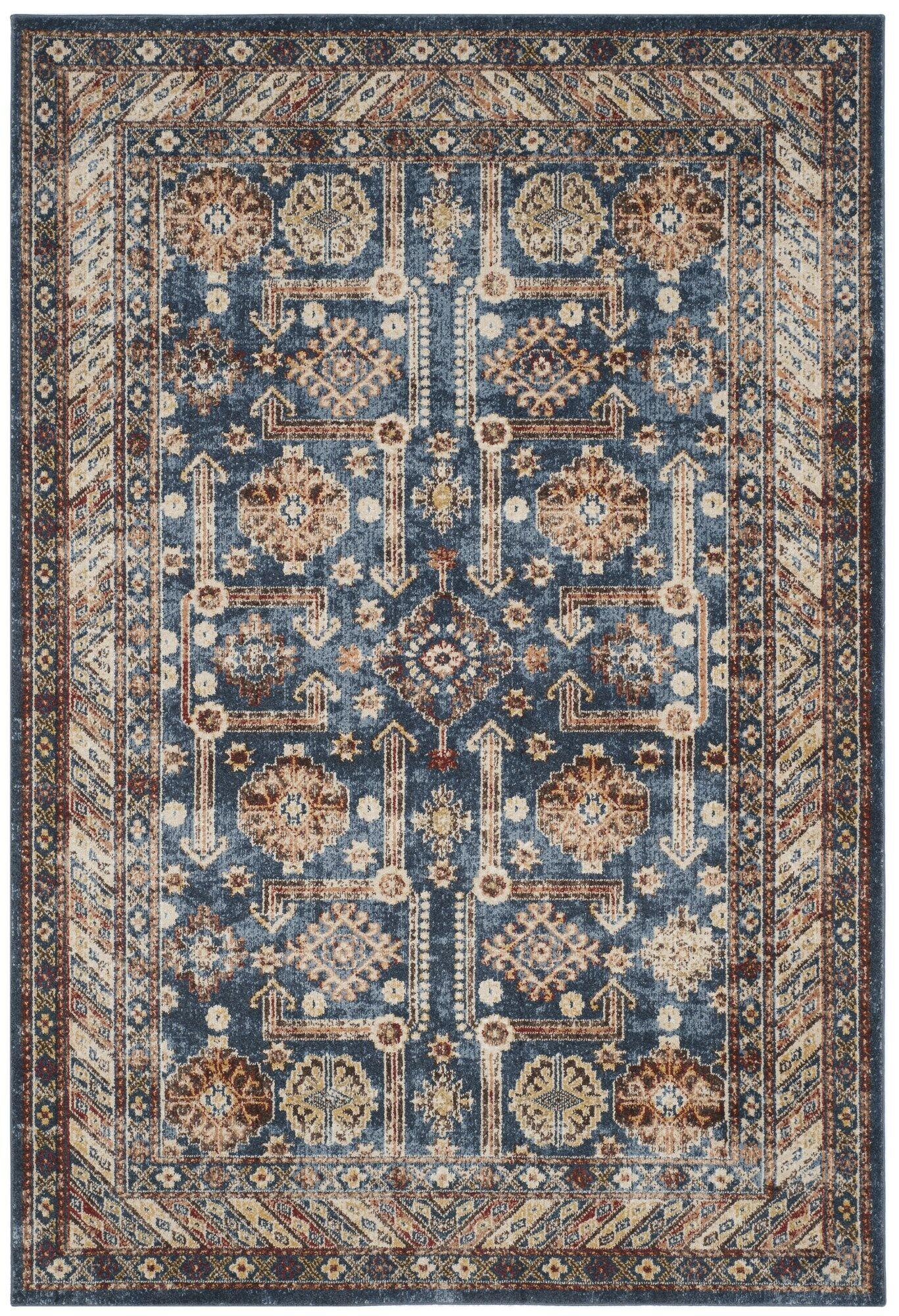 Isanotski Brown/Blue Area Rug Rug Size: Rectangle 10' x 14'