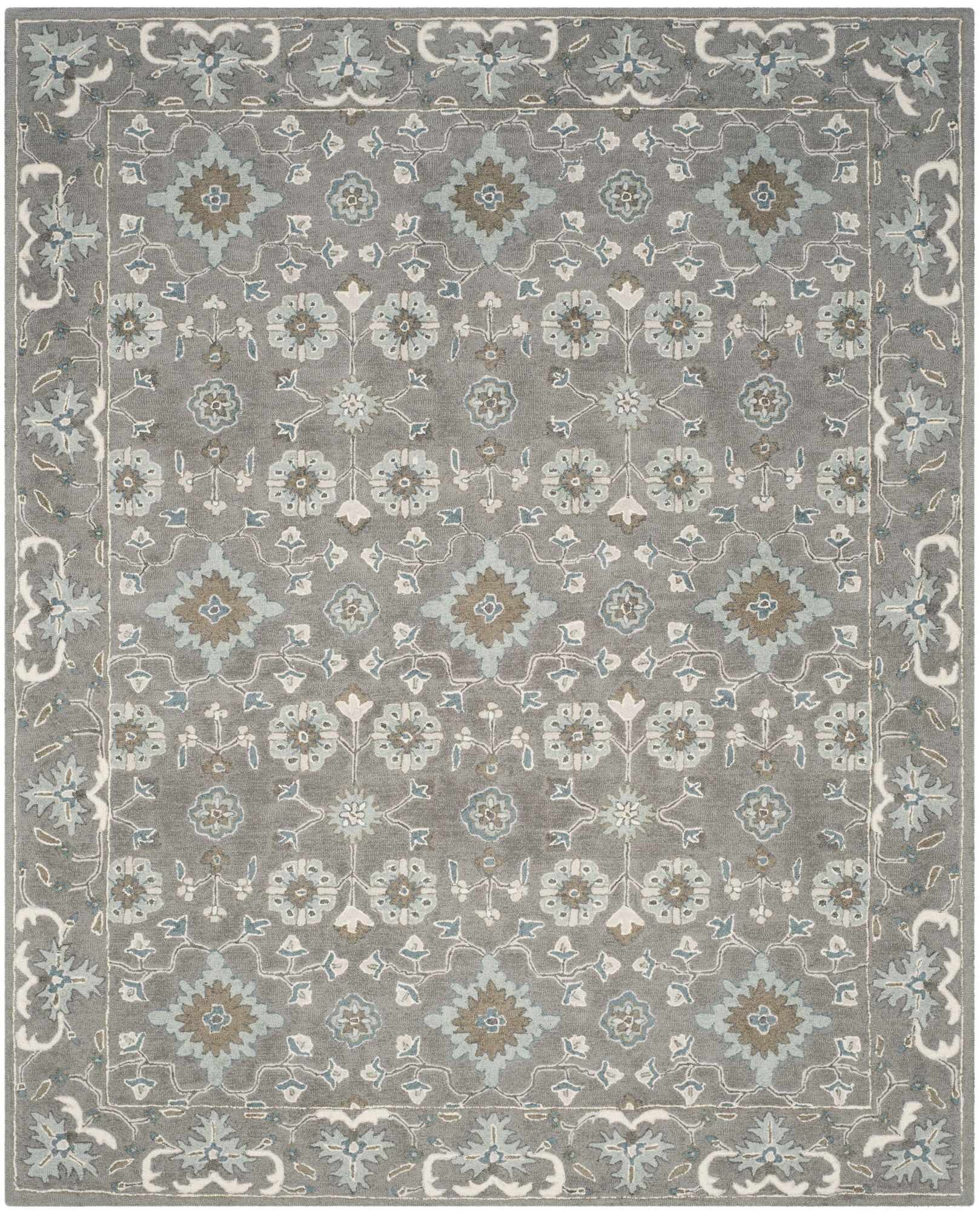 Kilbourne Hand-Tufted Gray Area Rug Rug Size: Rectangle 8'9