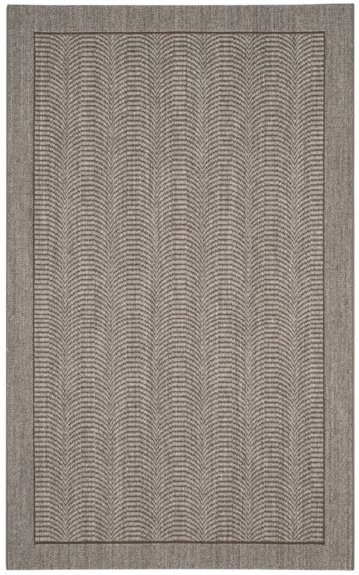 Fiske Solid Sisal Silver Area Rug Rug Size: Rectangle 8' x 10'