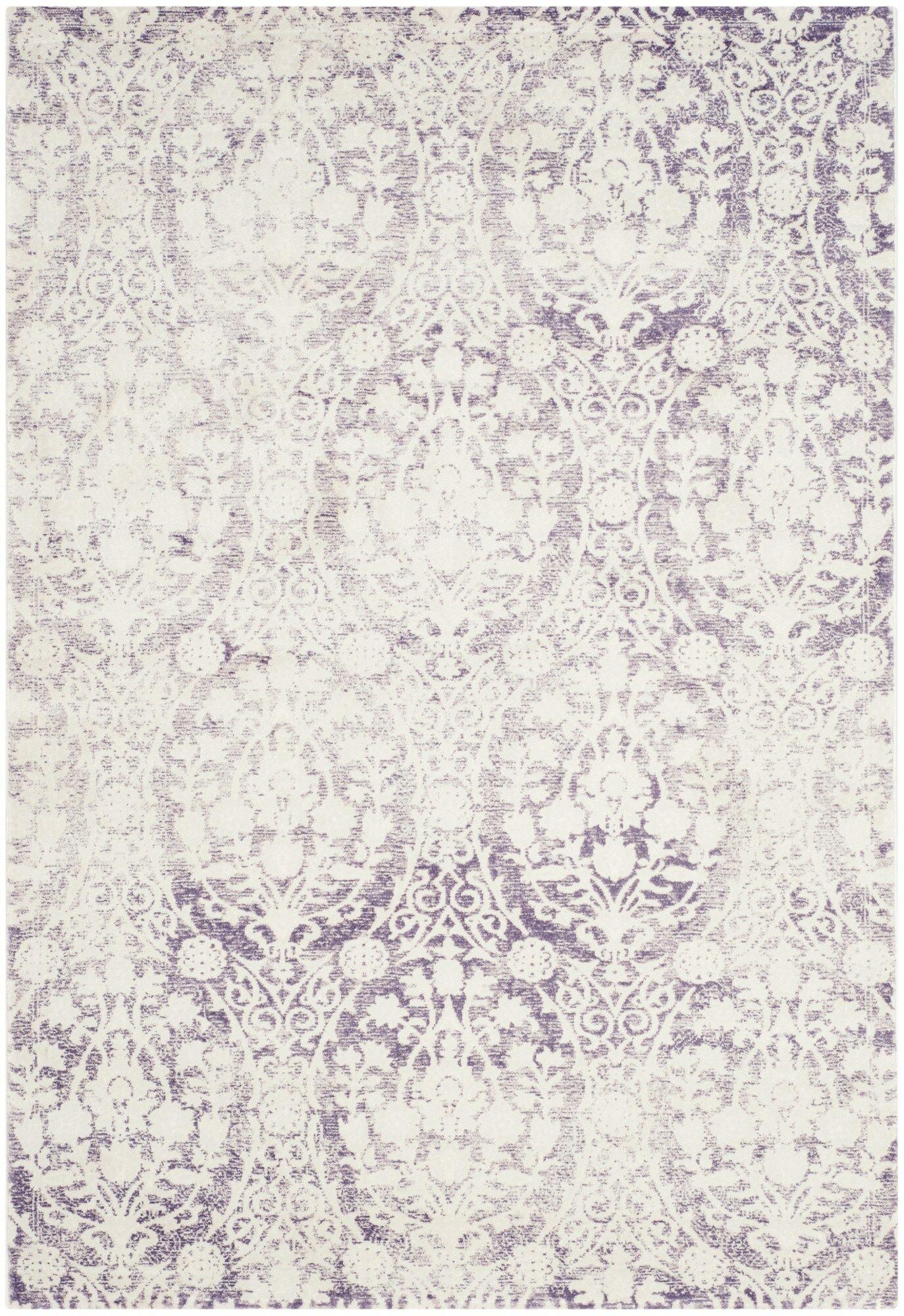 Auguste Lavander/Ivory Area Rug Rug Size: Square 6'7