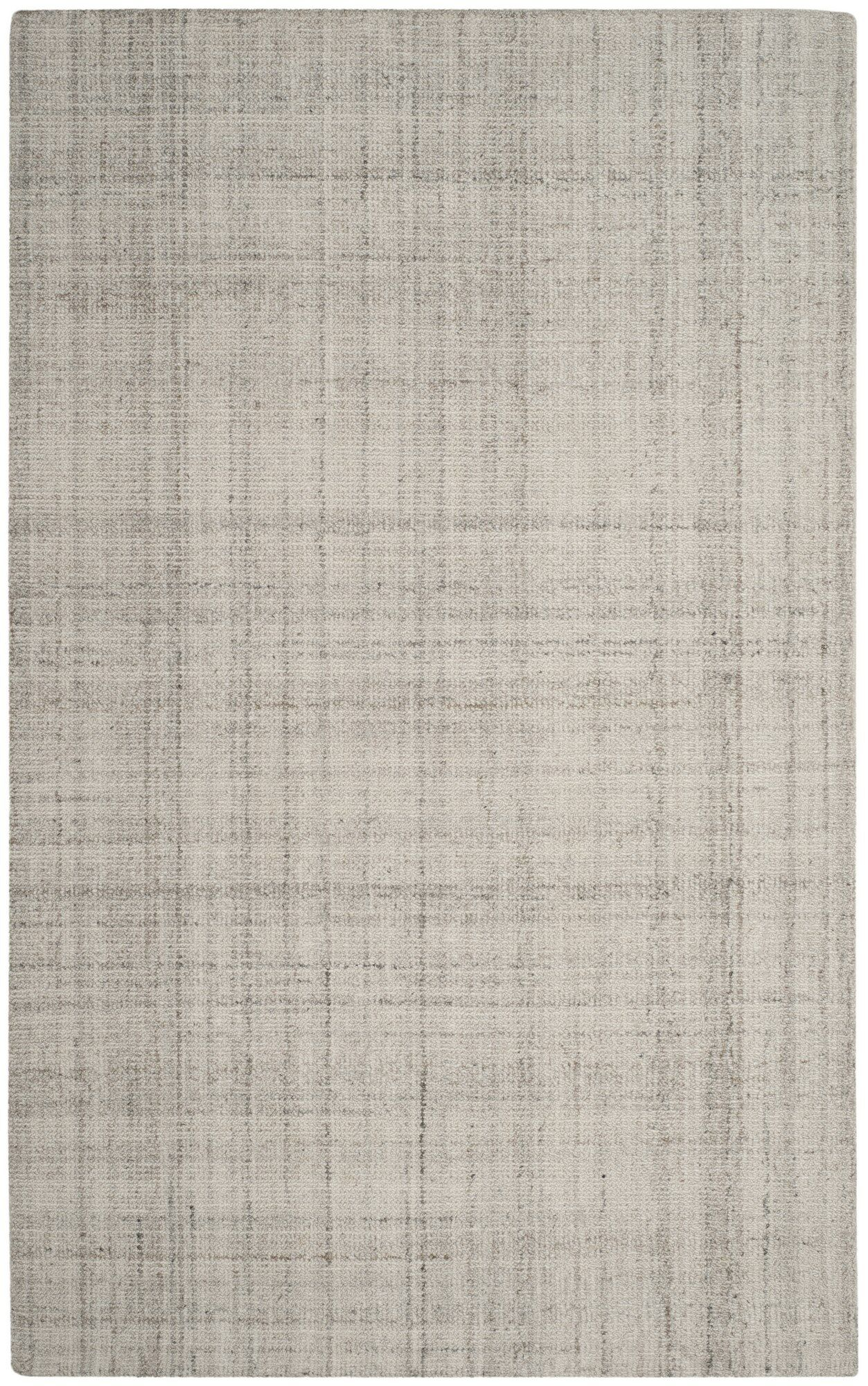 Drennon Hand-Tufted Light Gray Area Rug Rug Size: Rectangle 3' x 5'