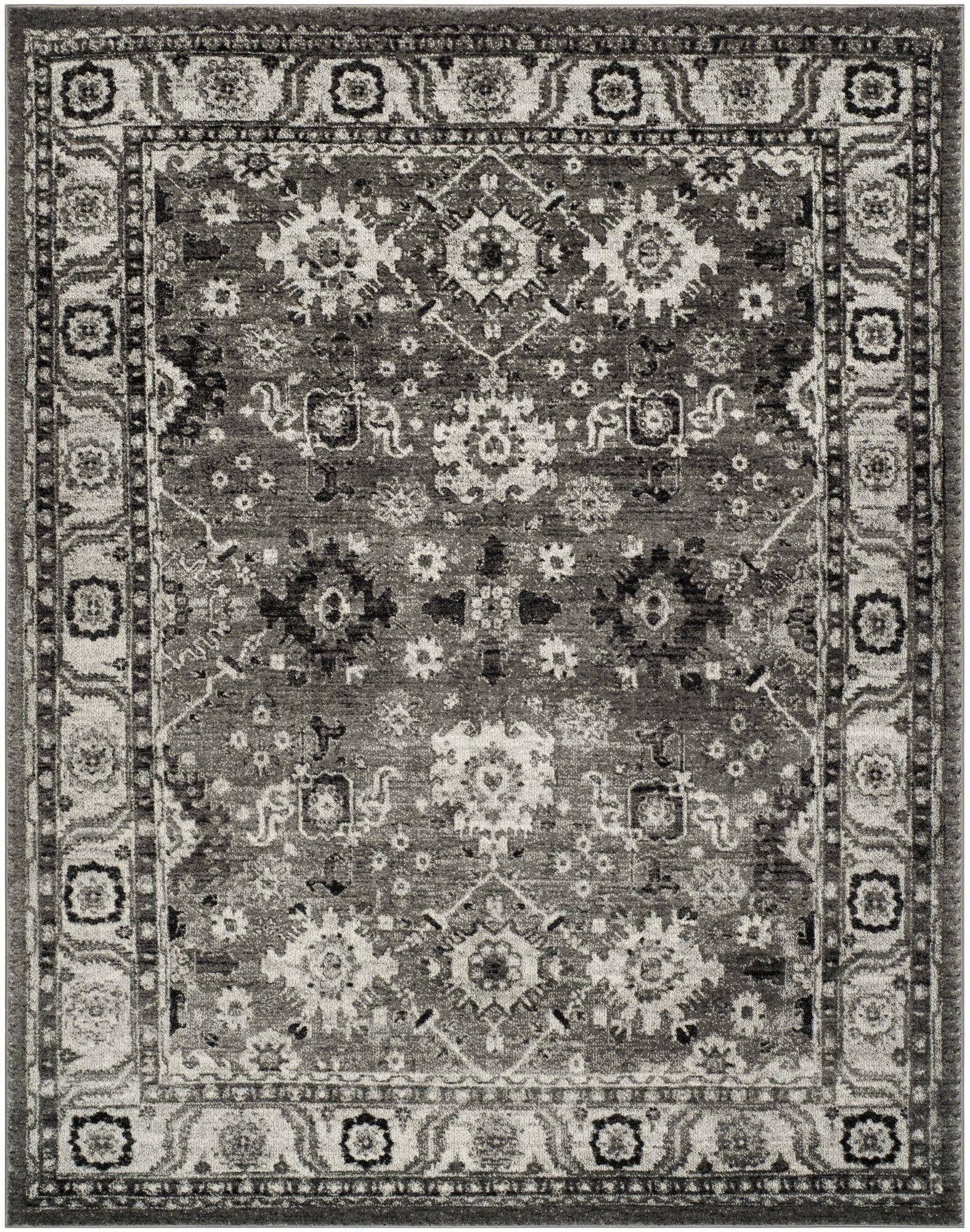 Logan Hamadan Gray Area Rug Rug Size: Rectangle 8' x 10'