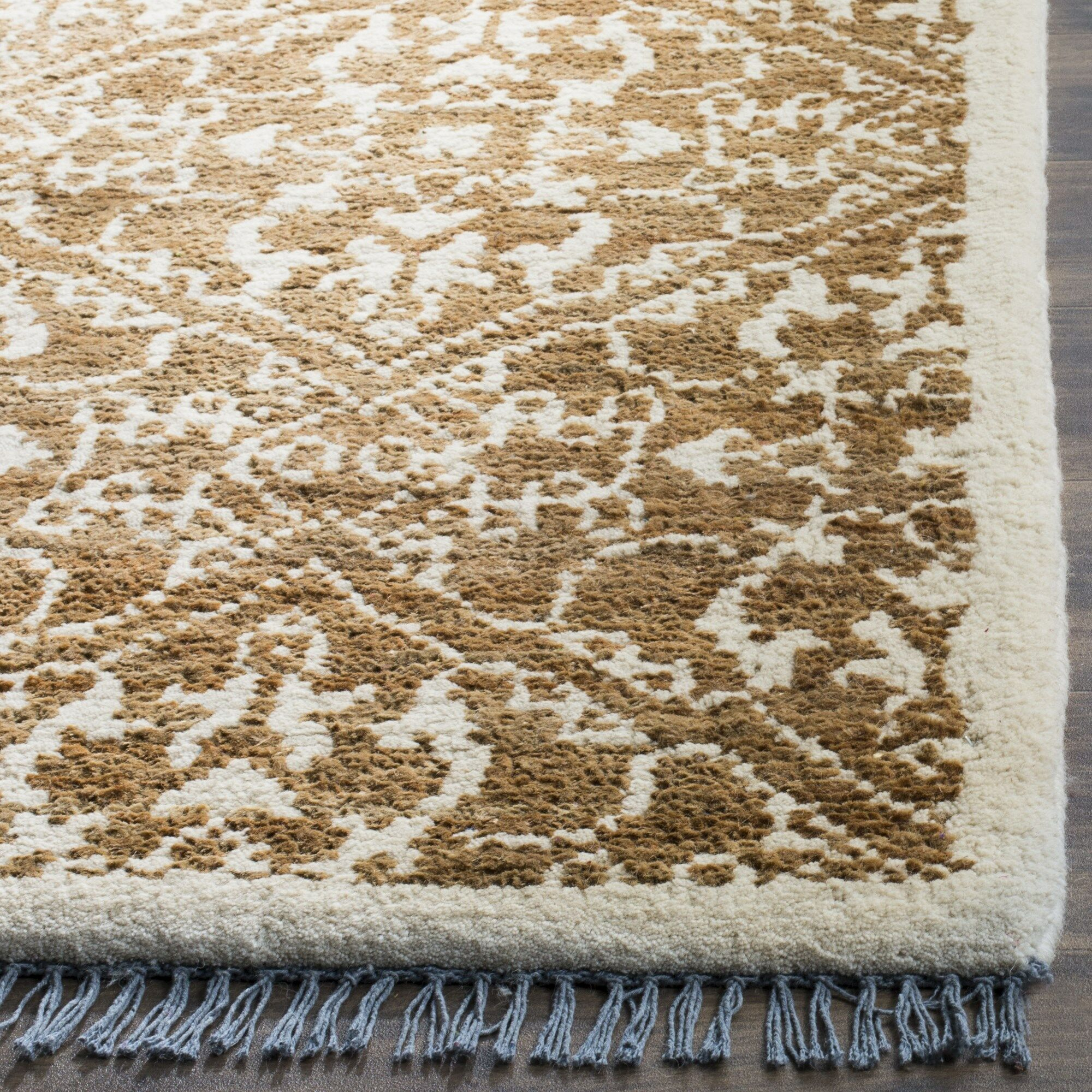Elford Hand-Woven Brown Area Rug Rug Size: Rectangle 5' x 8'