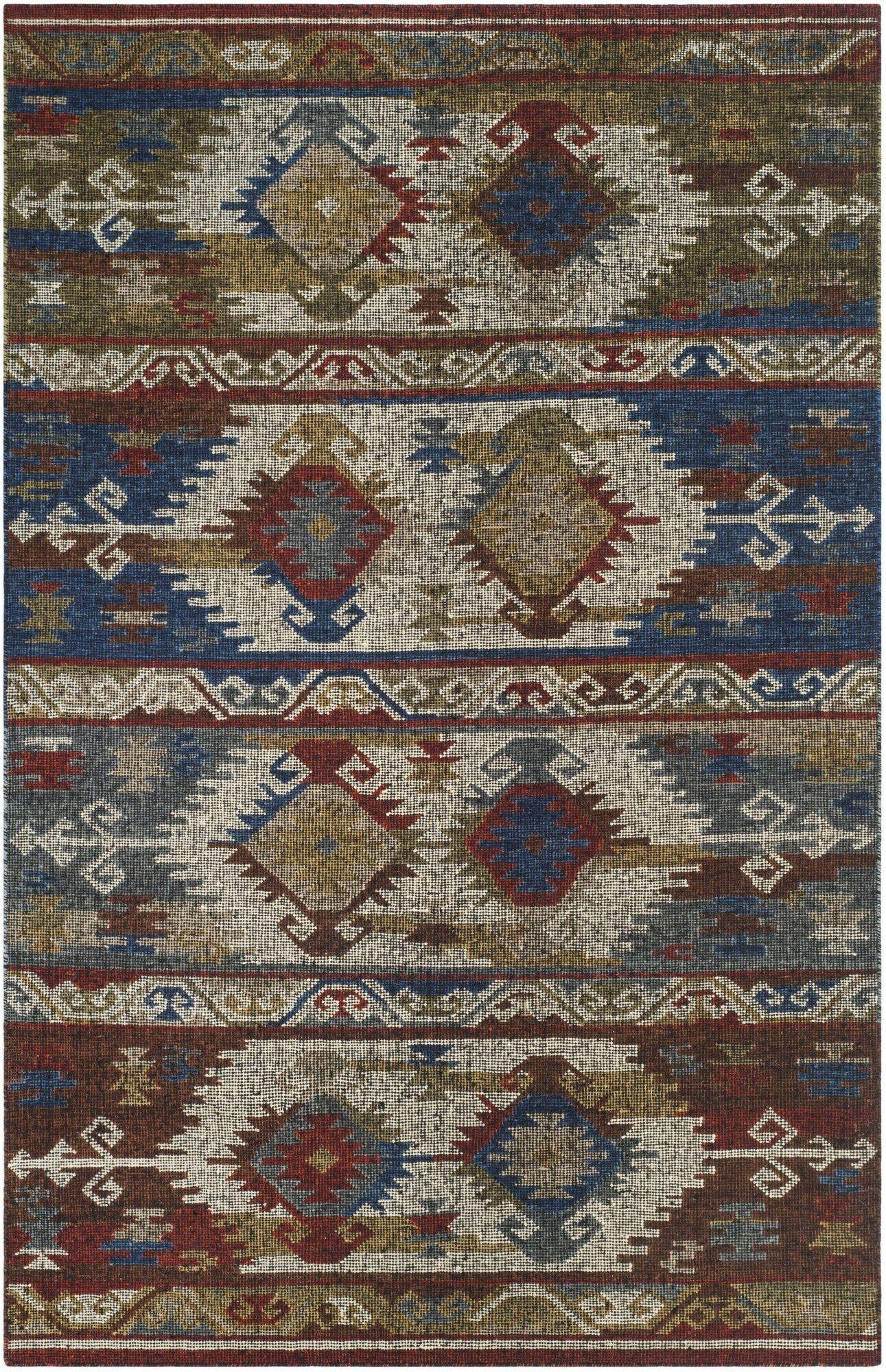 Elan Hand-Woven Blue Area Rug Rug Size: Rectangle 5' x 8'