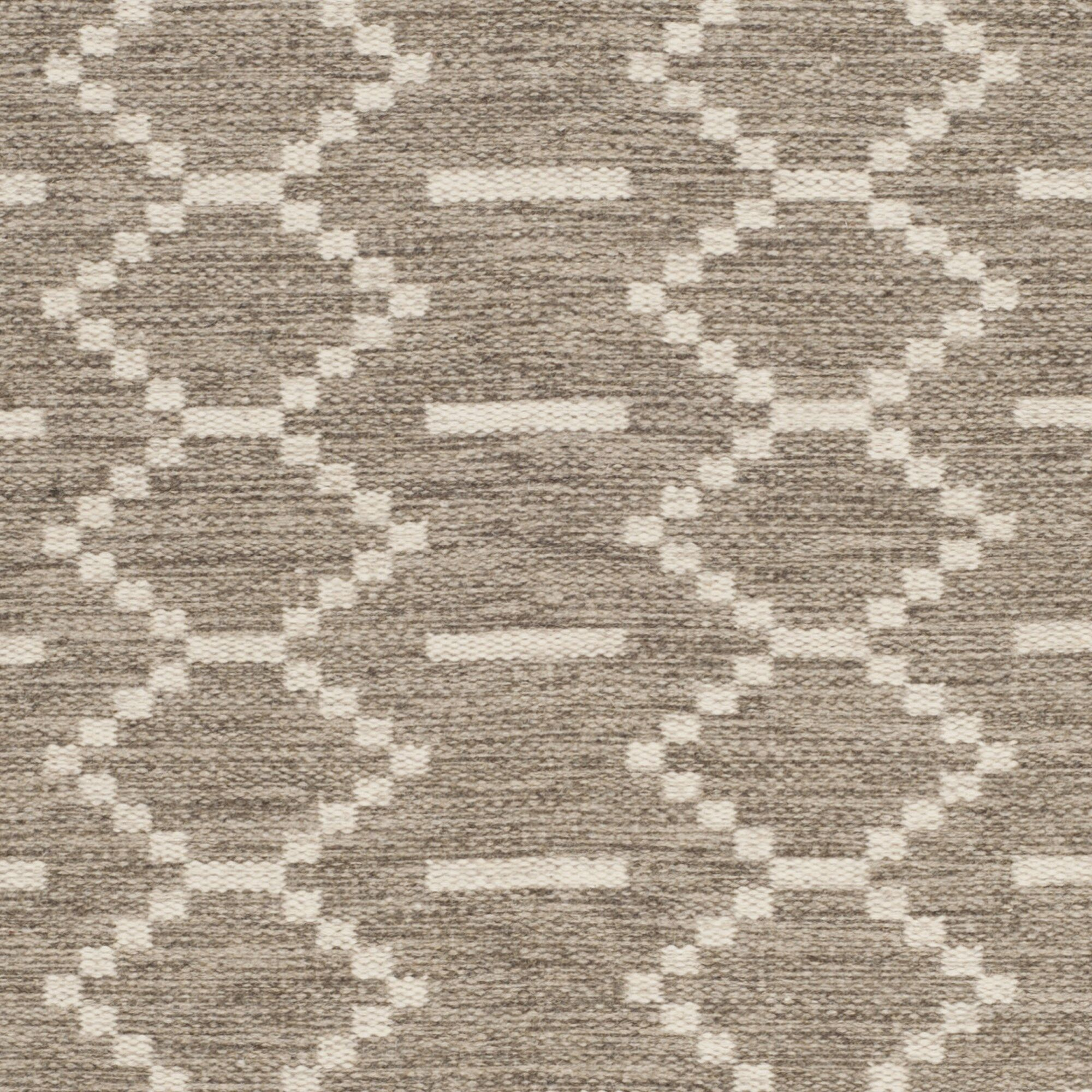 Bennett Hand-Woven Wool Gray Area Rug Rug Size: Rectangle 8' x 10'