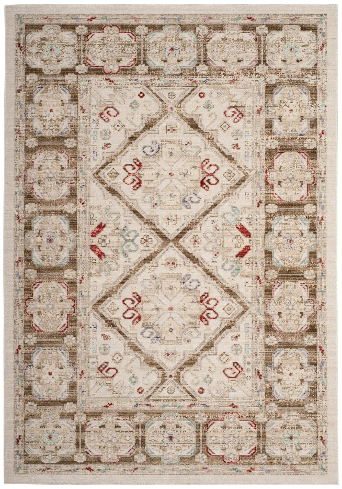 Chauncey Ivory Area Rug Rug Size: Square 6'