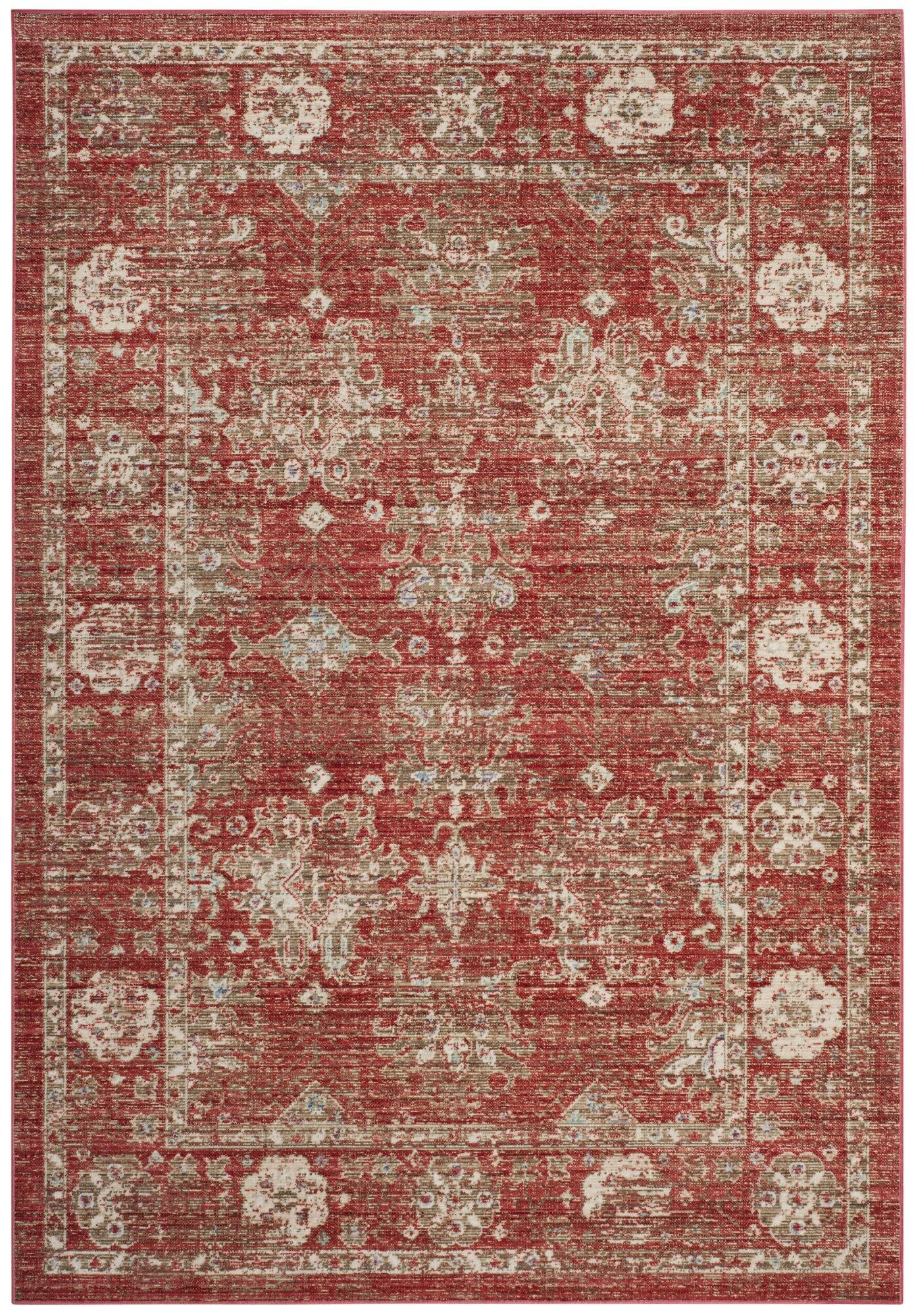 Chauncey Red Area Rug Rug Size: Rectangle 9' x 13'
