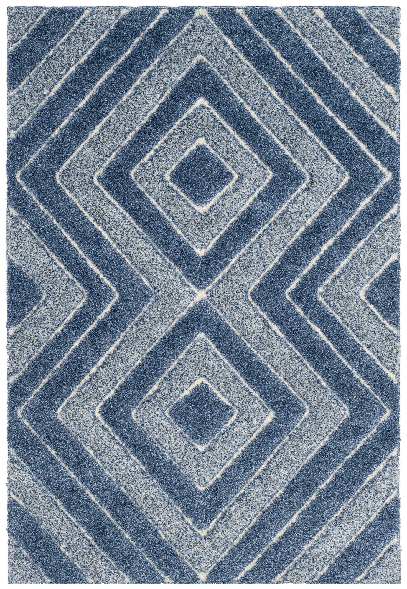 Wideman Blue Area Rug Rug Size: Rectangle 5'1