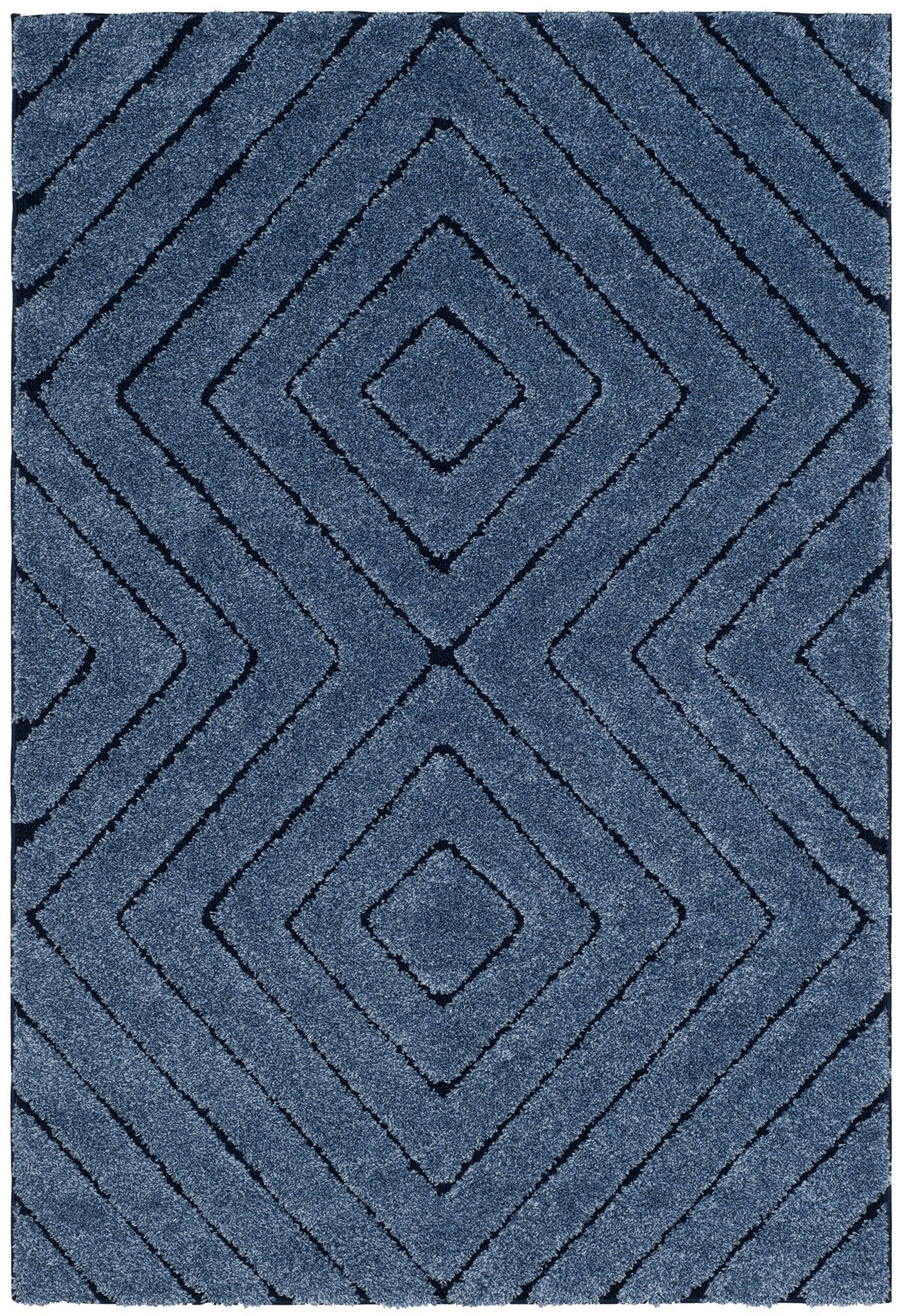 Wideman Navy Area Rug Rug Size: Rectangle 5'1