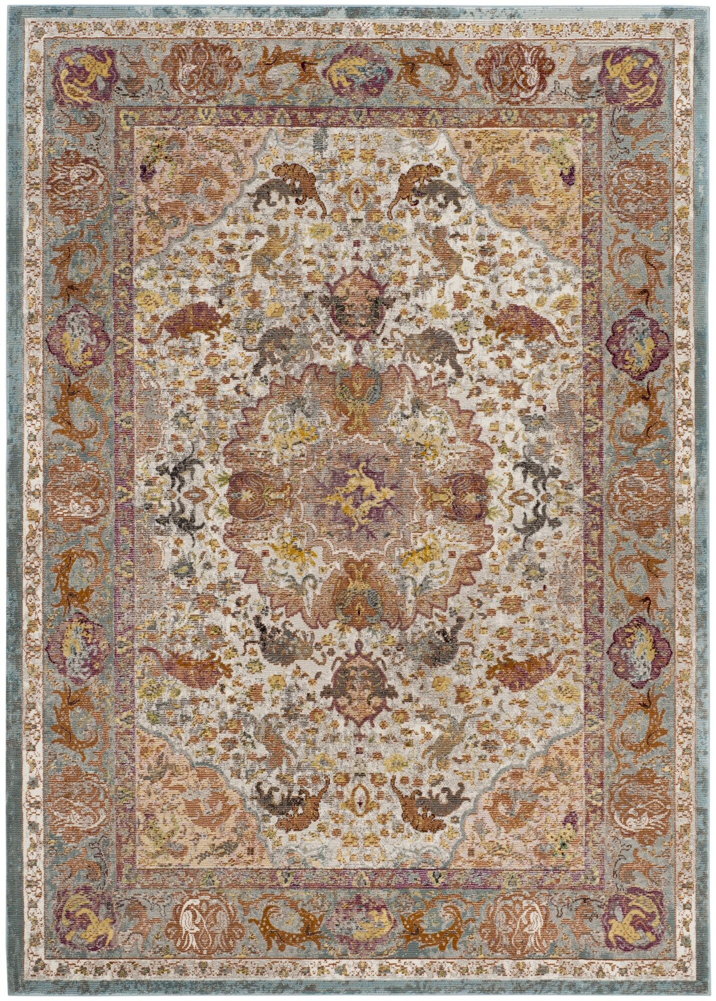 Monserrat Beige Area Rug Rug Size: Rectangle 5'1