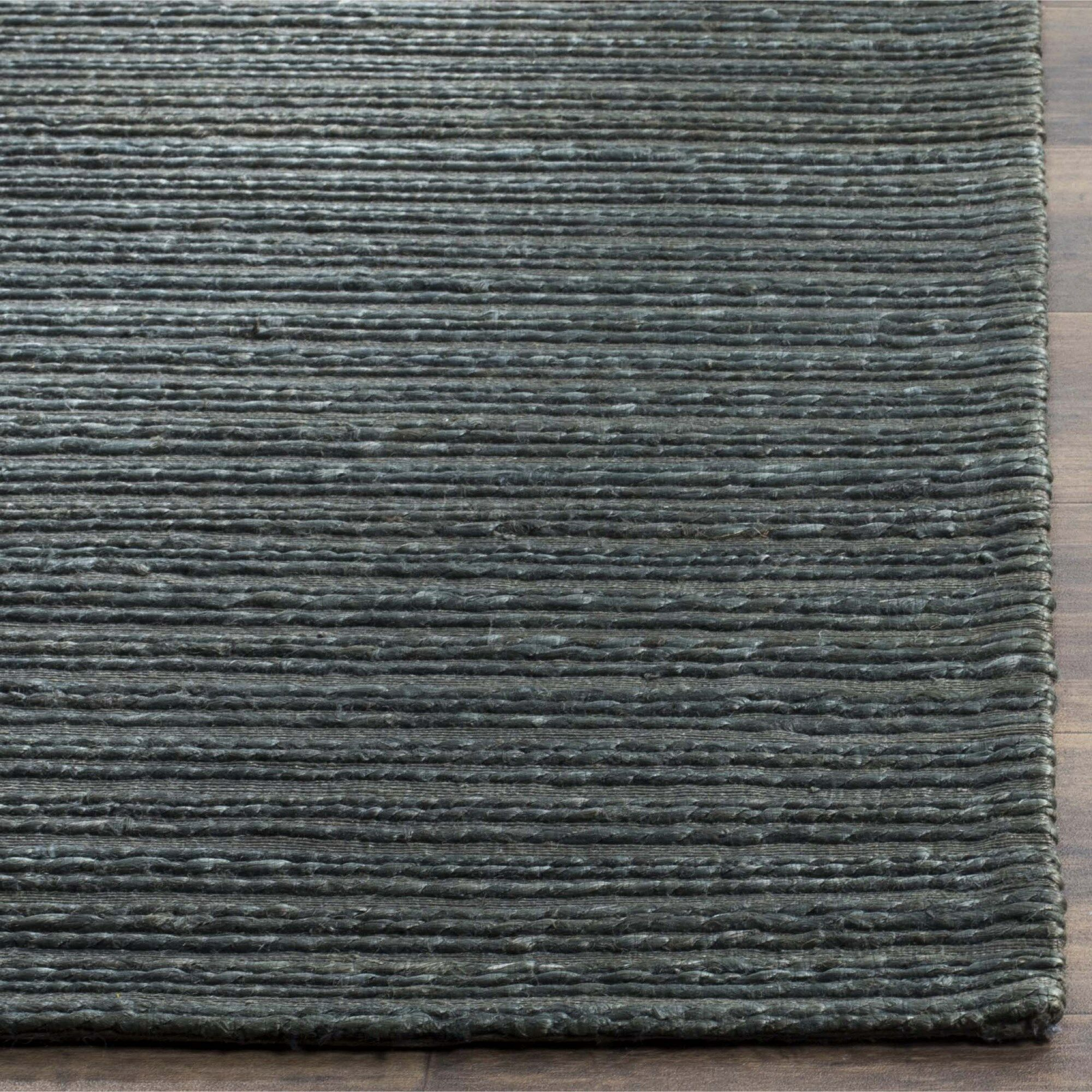 Abia Hand-Woven Dark Green Area Rug Rug Size: Rectangle 6' x 9'