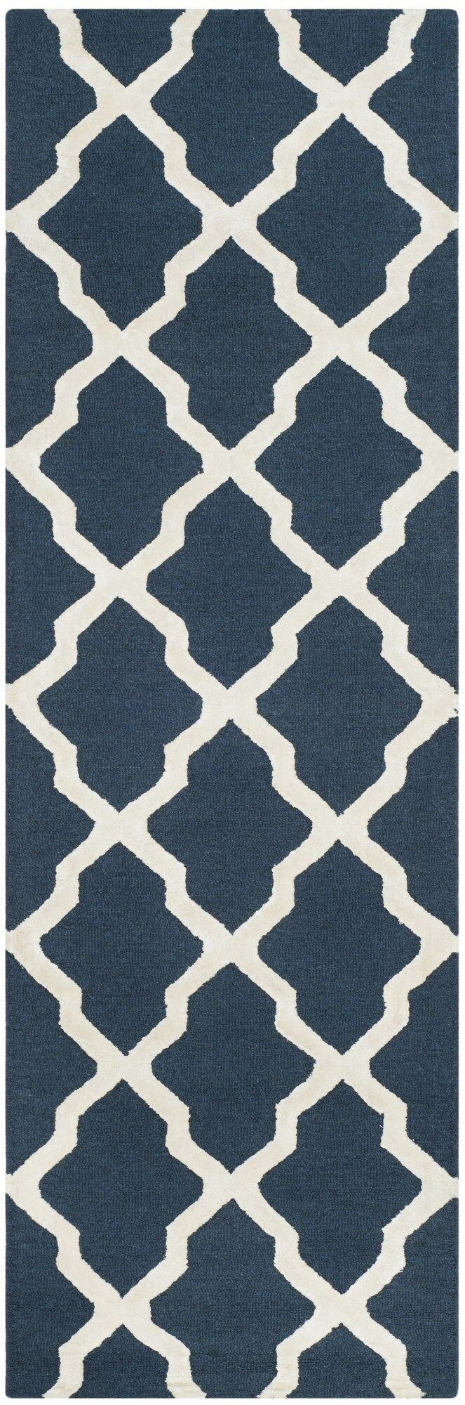 Parker Lane Hand Tufted Navy Area Rug Rug Size: Rectangle 6' x 9'