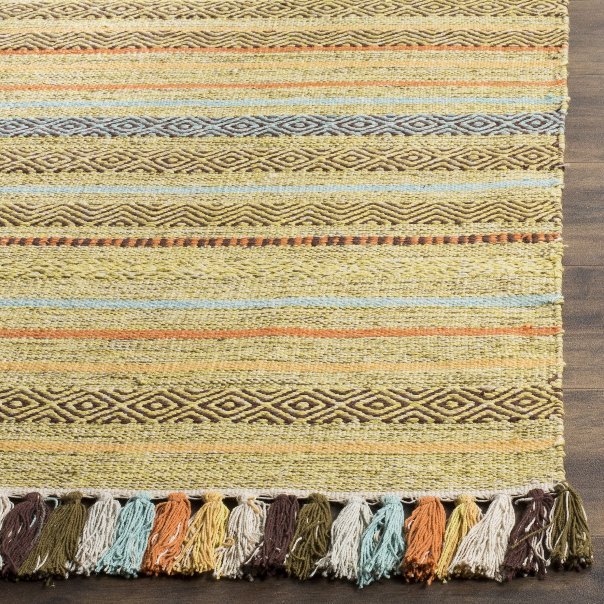 Trenton Hand-Woven Cotton Beige Area Rug Rug Size: Rectangle 5' x 8'