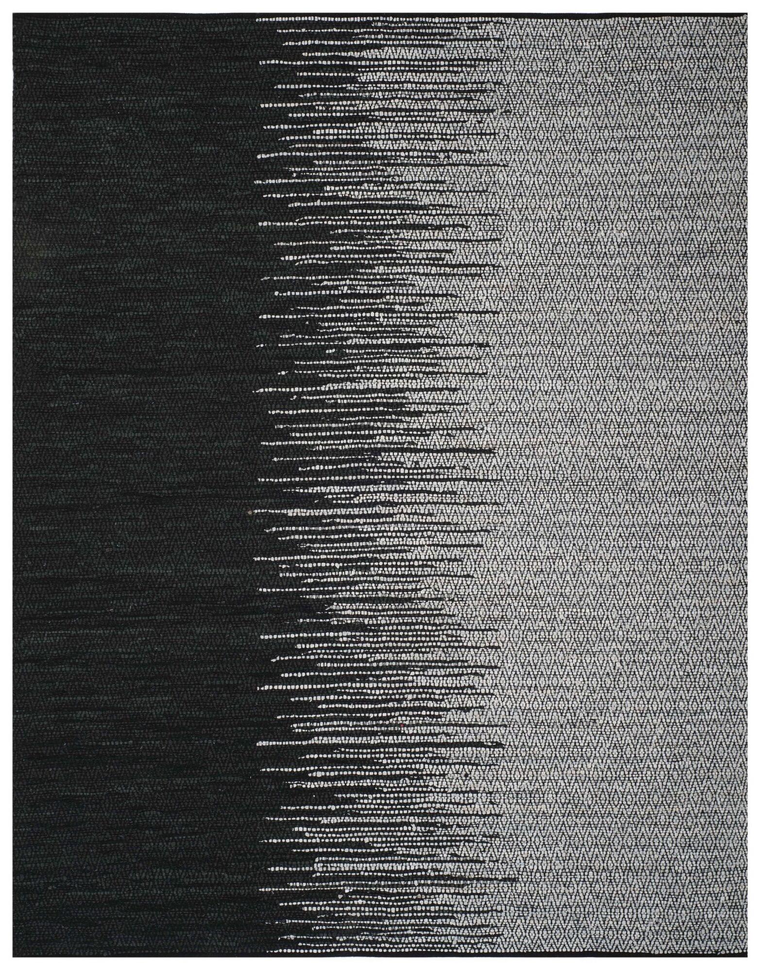 Erik Hand-Woven Light Grey/Black Area Rug Rug Size: Rectangle 8' x 10'