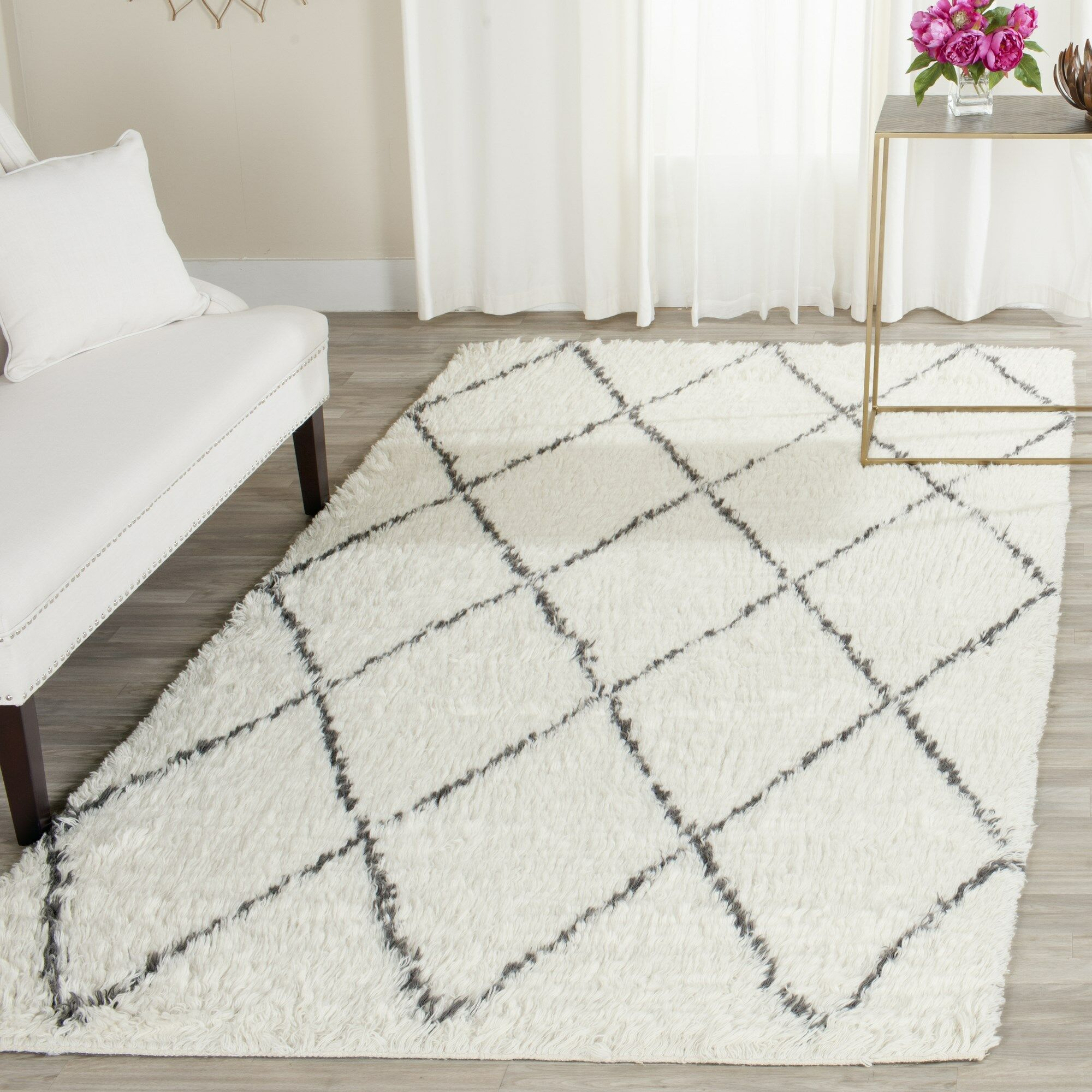 Lohan Knotted Cotton Ivory Area Rug Rug Size: Rectangle 8' x 10'