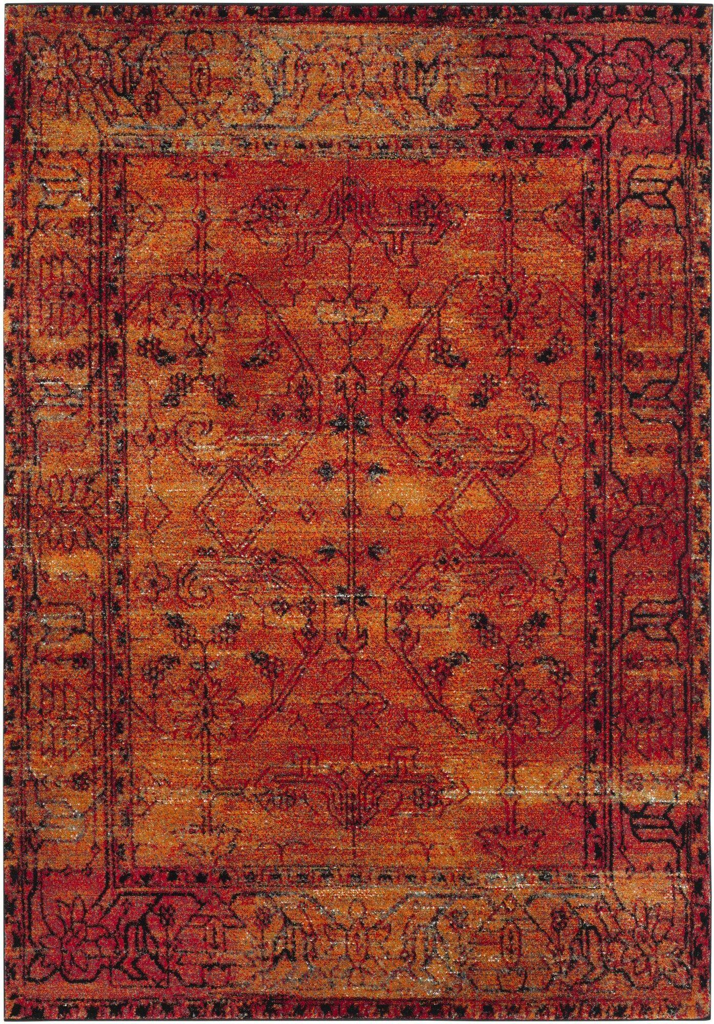 Valenzuela Orange Area Rug Rug Size: Rectangle 4' x 6'