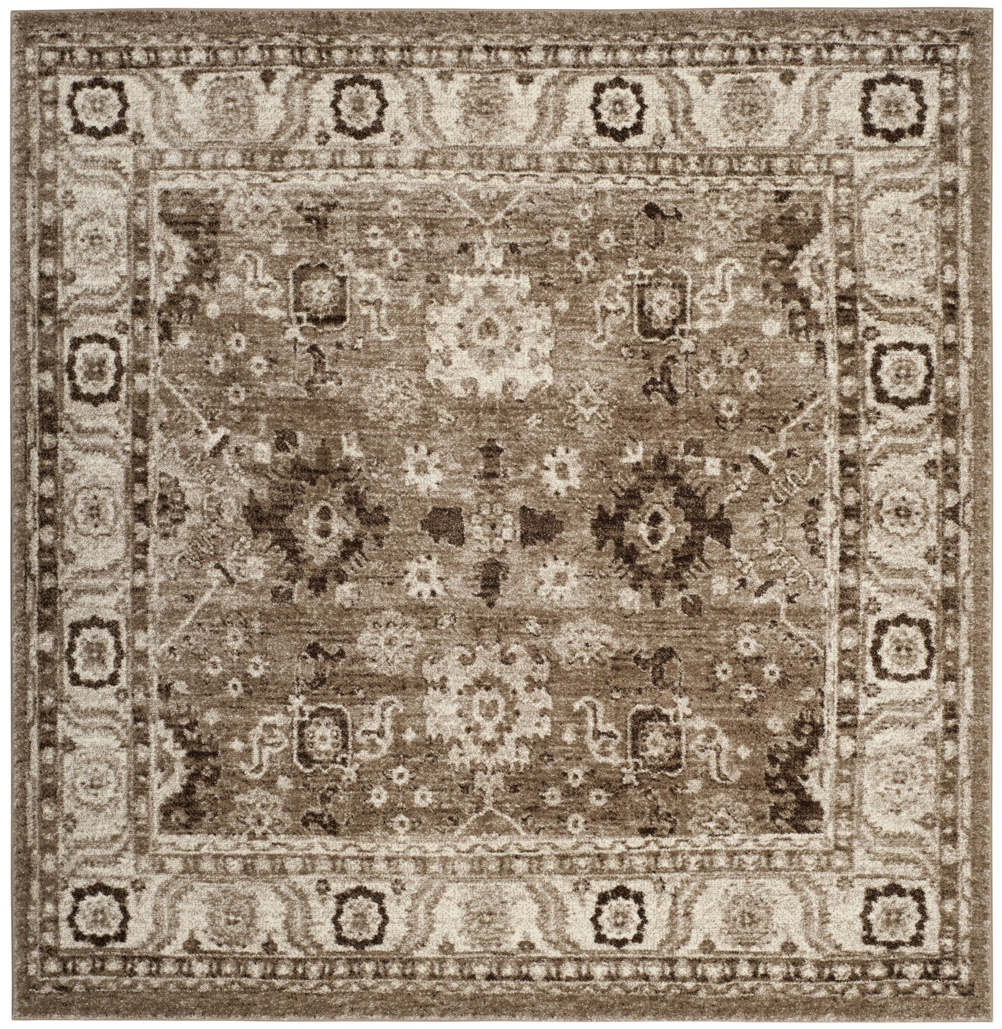 Asheville Taupe Area Rug Rug Size: Square 5' x 5'