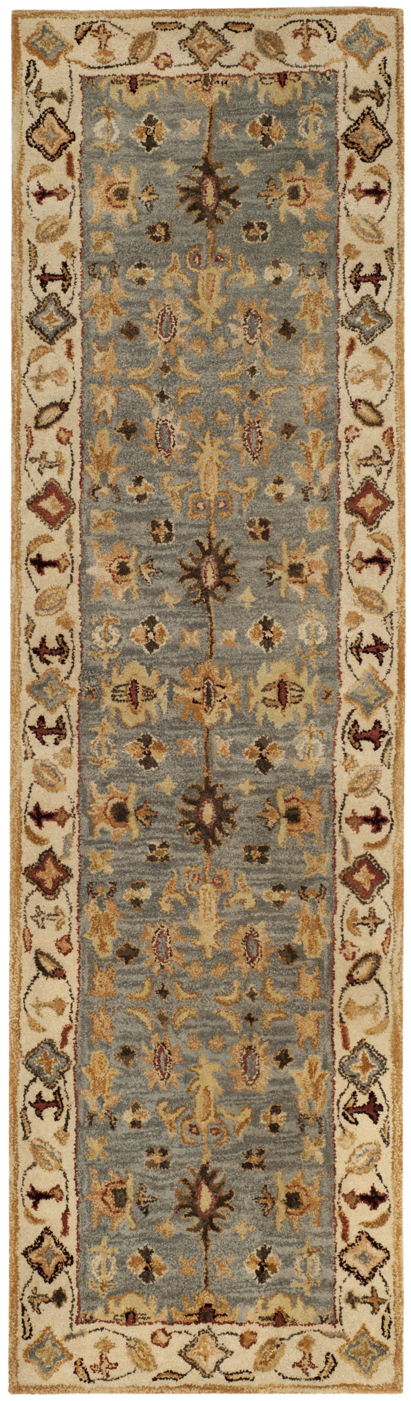 Tinley Hand-Tufted Wool Beige Area Rug Rug Size: Runner 2'3