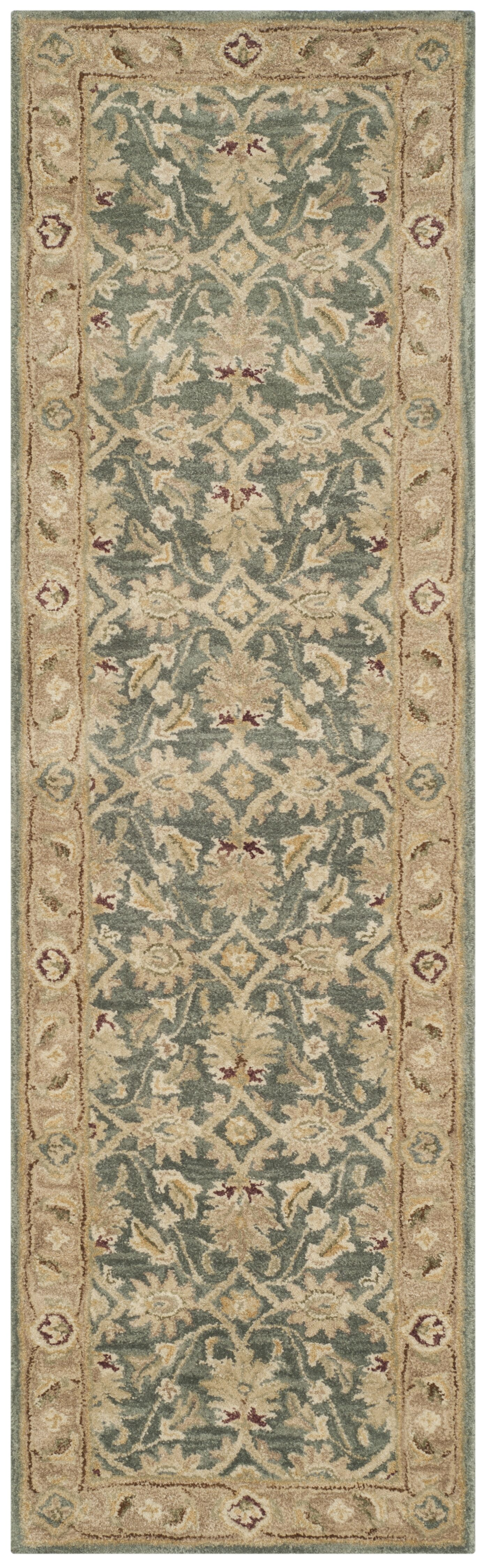 Tinley Hand-Tufted Wool Teal Blue Area Rug Rug Size: Runner 2'3